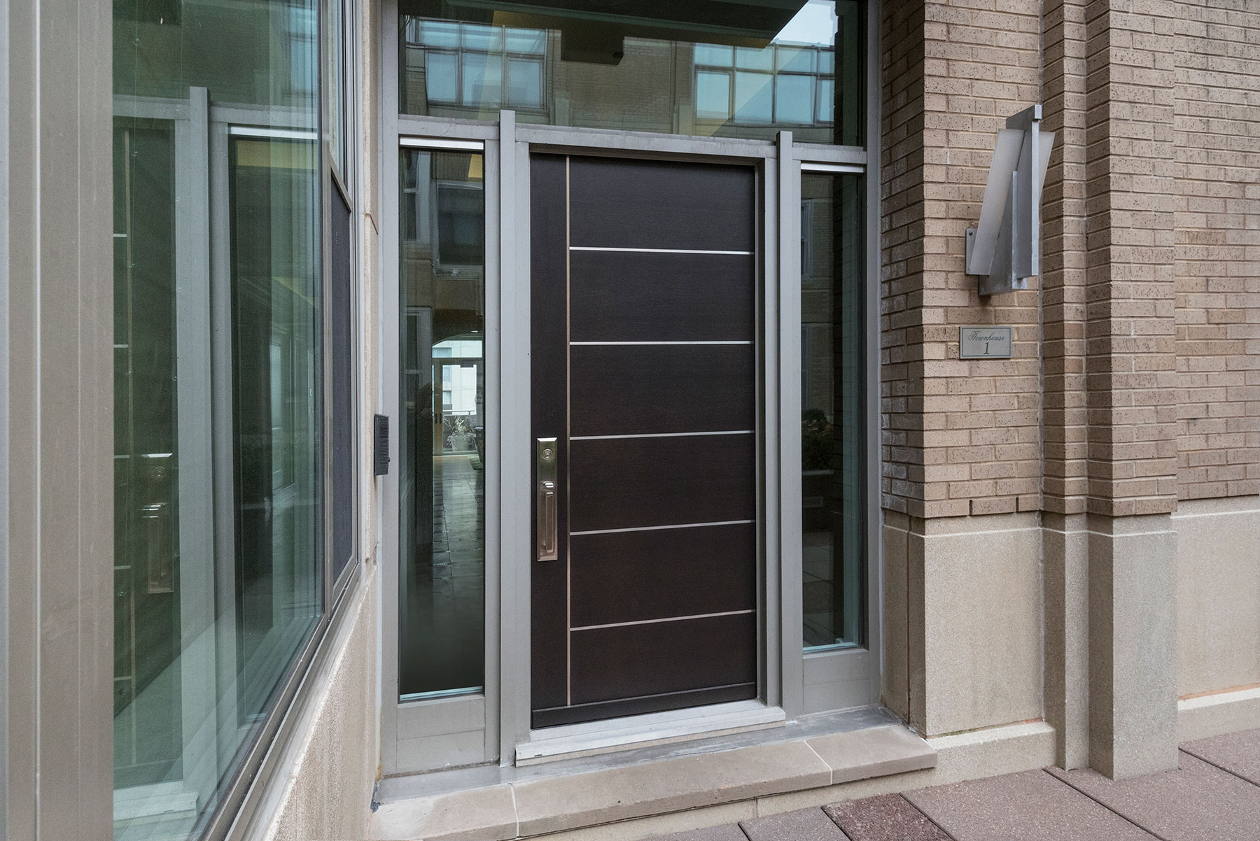 Custom Wood Front Entry Doors. 33 W Ontario Chicago Townhomes Modern Commercial Doors