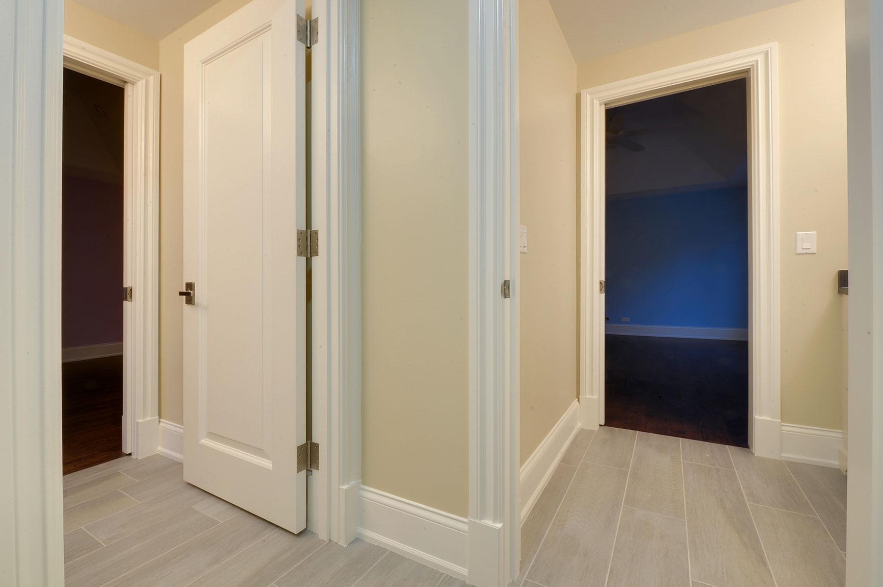 custom interior door single raised panel white painted wood entry