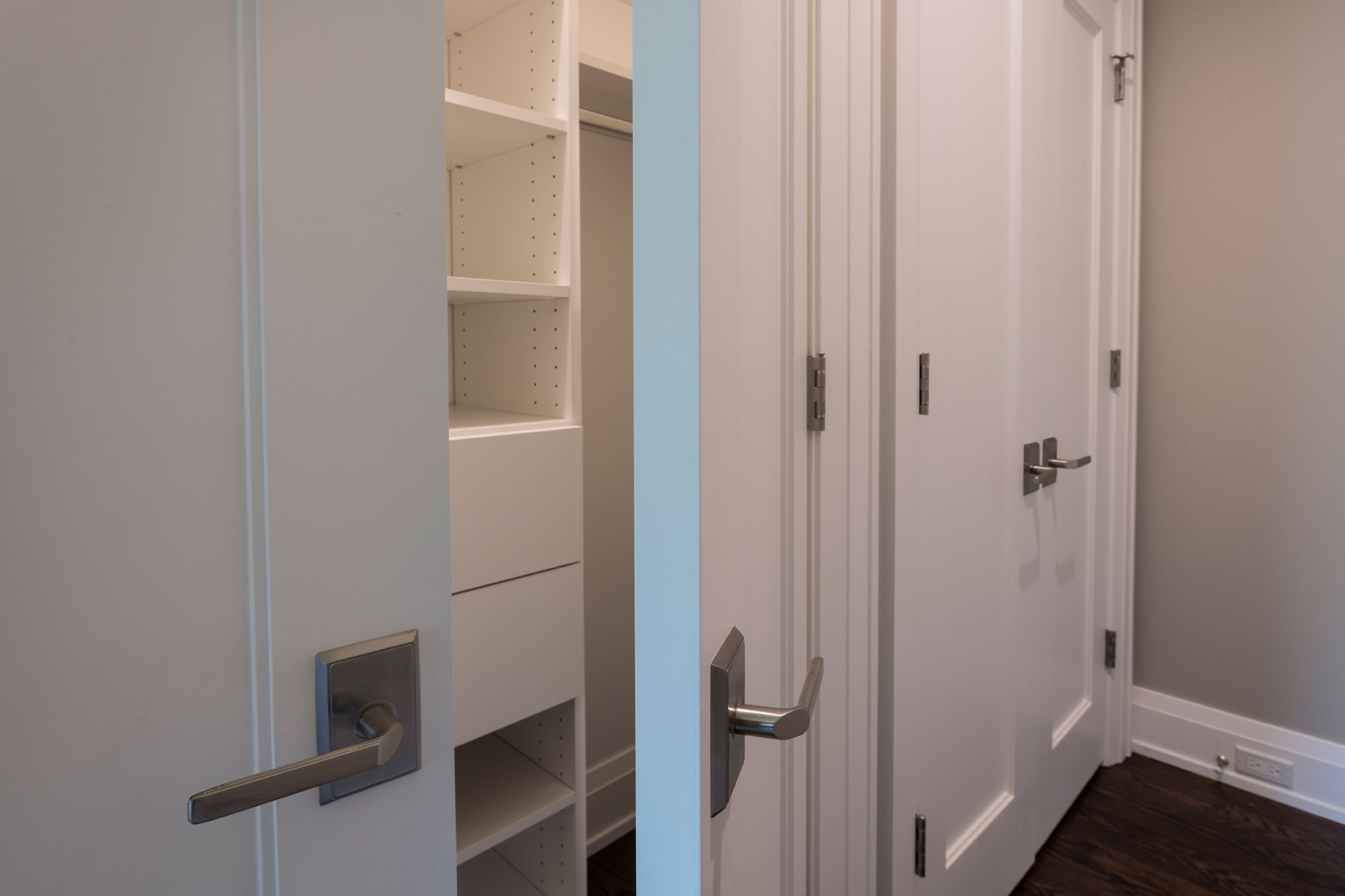 Custom Wood Interior Doors | single panel paint grade closet double doors  - Glenview Doors - Custom Doors in Chicago