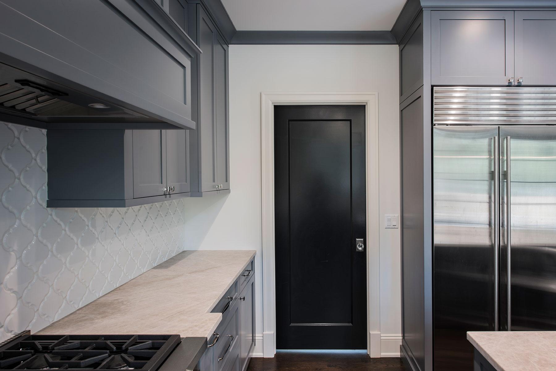 Custom Wood Interior Doors | Custom Mahogany Single Panel Kitchen Door  - Glenview Doors - Custom Doors in Chicago