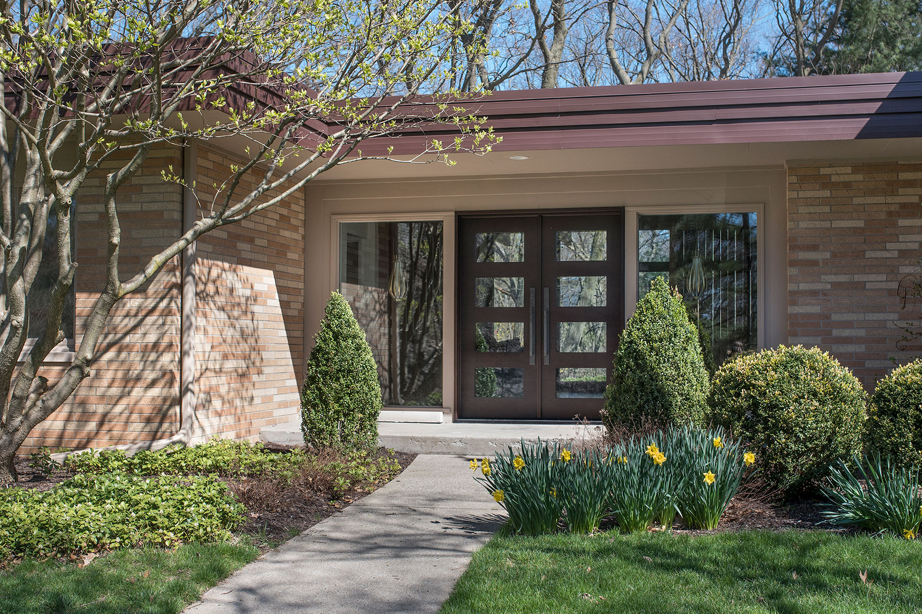 Custom Wood Front Entry Doors | Modern Euro Technology, Modern Collection Double Door DB-EMD 823 DD CST - Glenview Doors - Custom Doors in Chicago