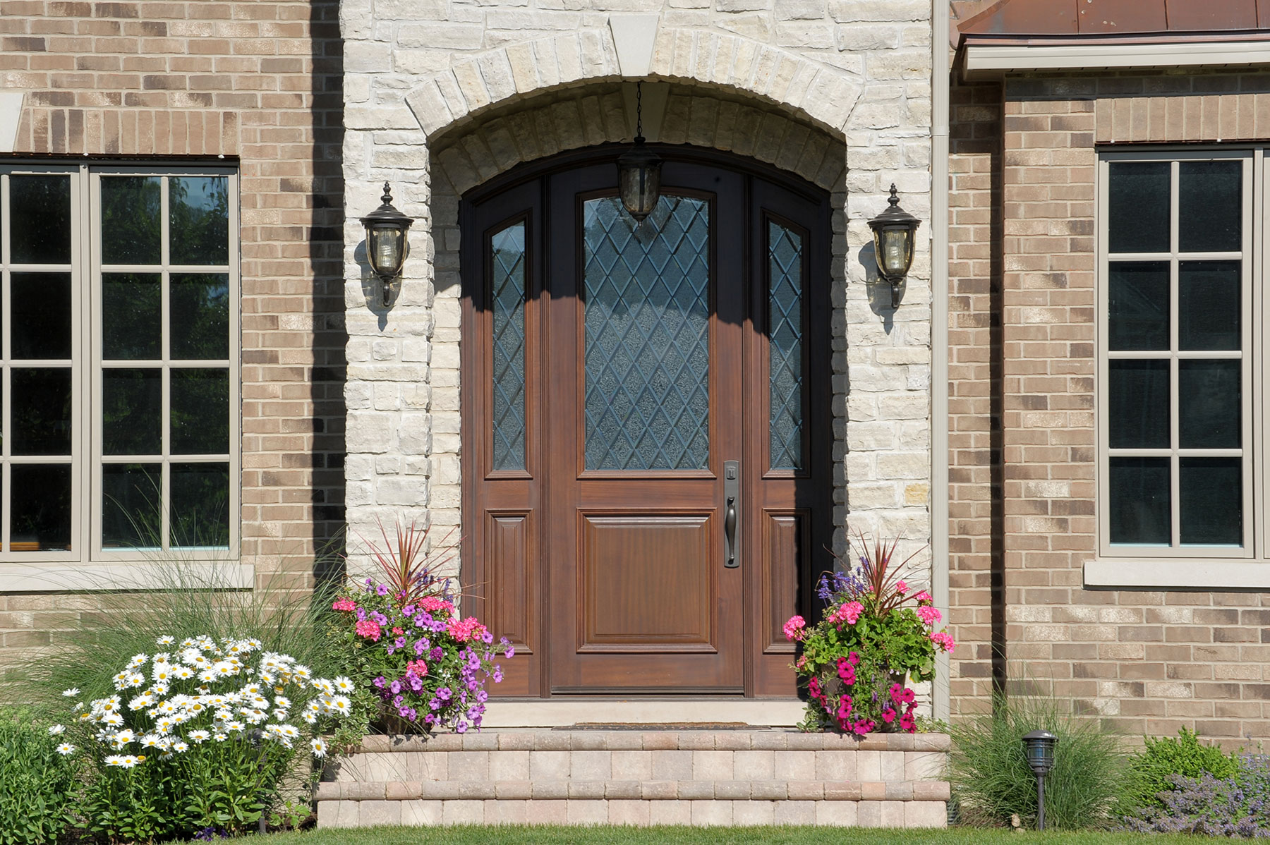 Solid Wood Front Entry Doors in-Stock | solid wood front entry door, in dark finish, for luxury home  DB-552DG 2SL - Glenview Doors - Custom Doors in Chicago