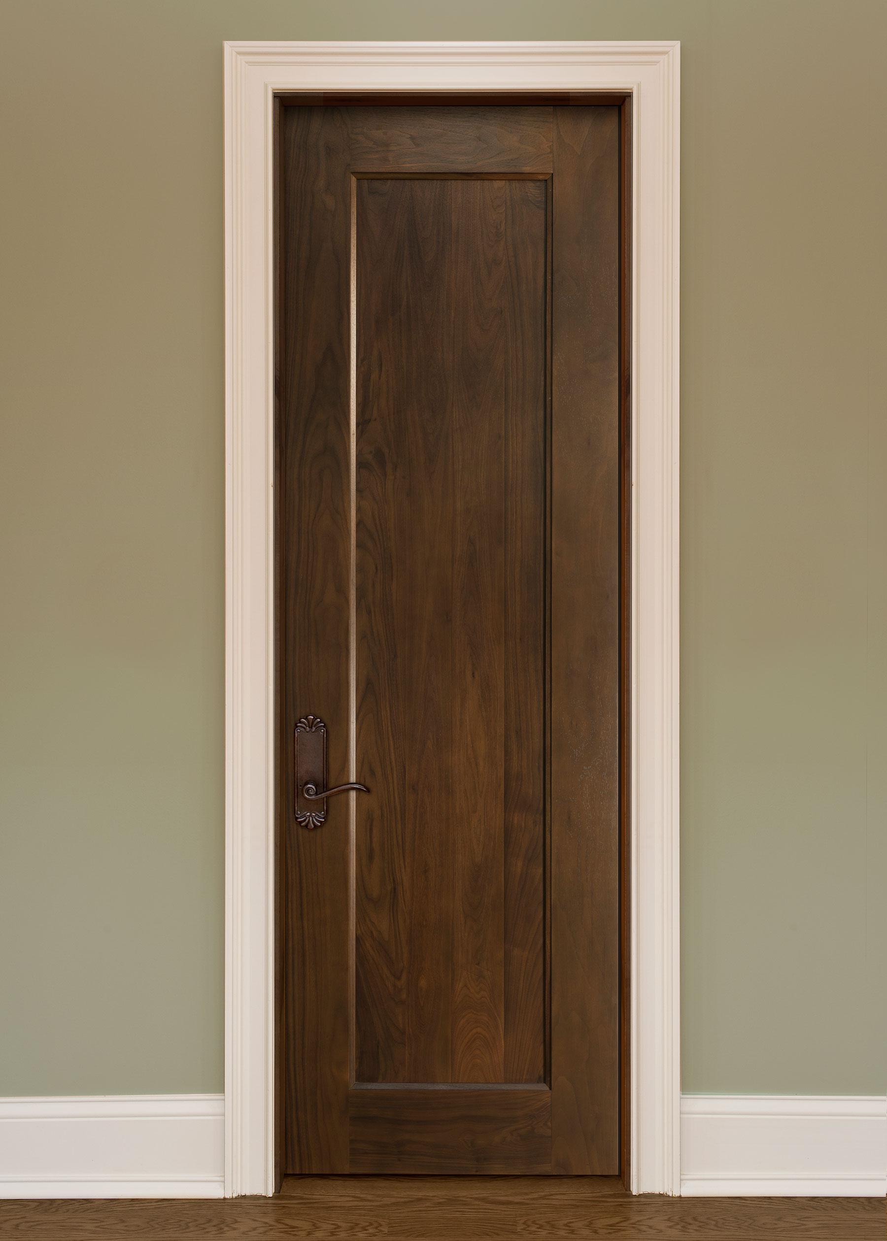Custom Wood Interior Doors | Custom Interior 1 Flat Panel Solid Wood Door, Single DBI-1000B - Glenview Doors - Custom Doors in Chicago