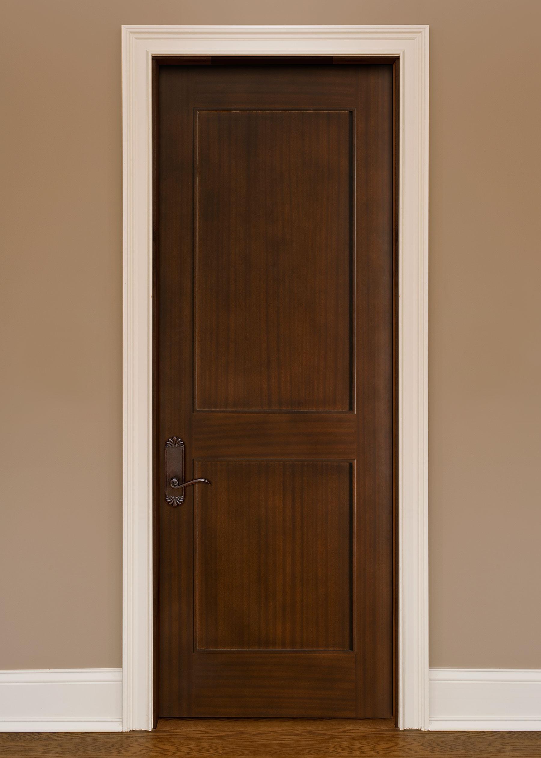 Custom Wood Interior Doors | Custom Interior 2 Flat Panel Solid Wood Door  - Glenview Doors - Custom Doors in Chicago