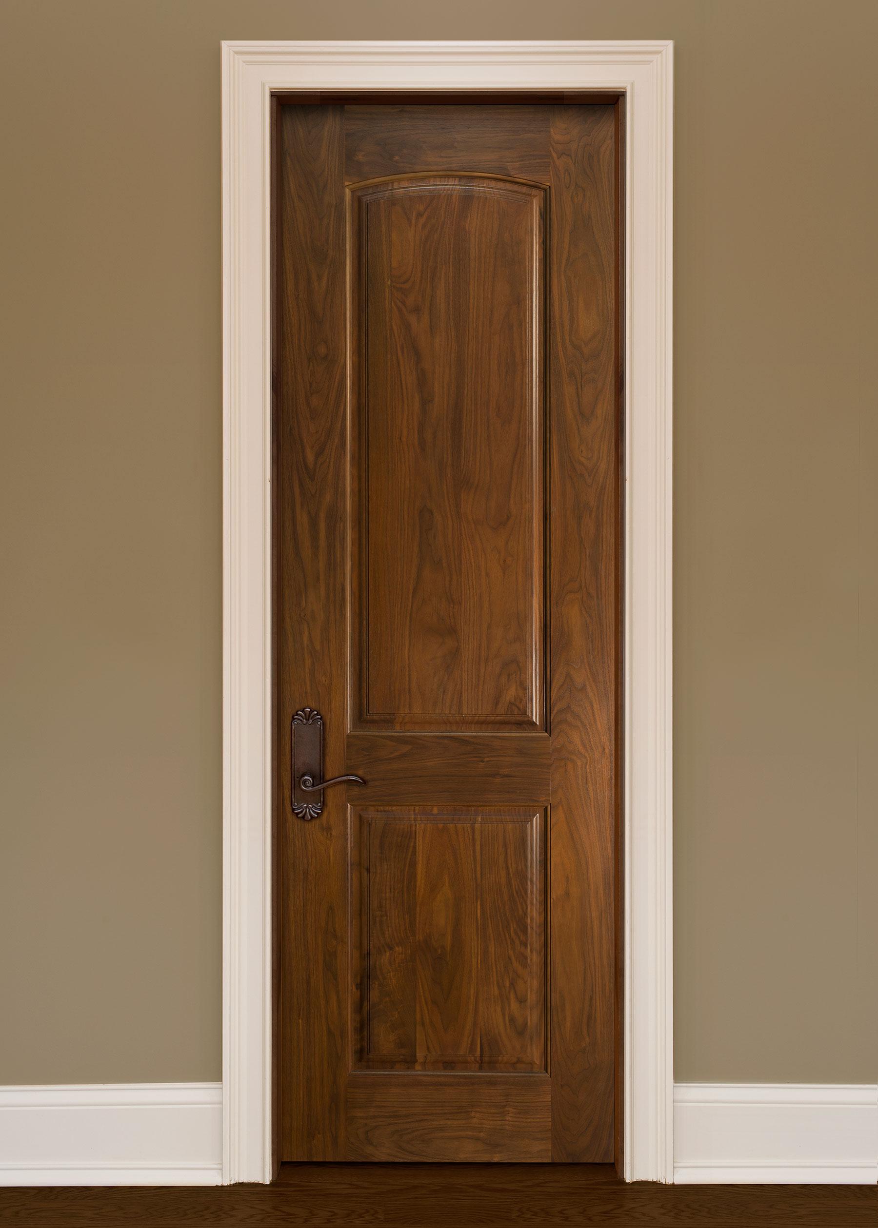 Custom Wood Interior Doors | Custom Interior 2 Panel Solid Wood Door GDI-701B - Glenview Haus - Custom Doors, Wine Cellars and Cabinets in Chicago