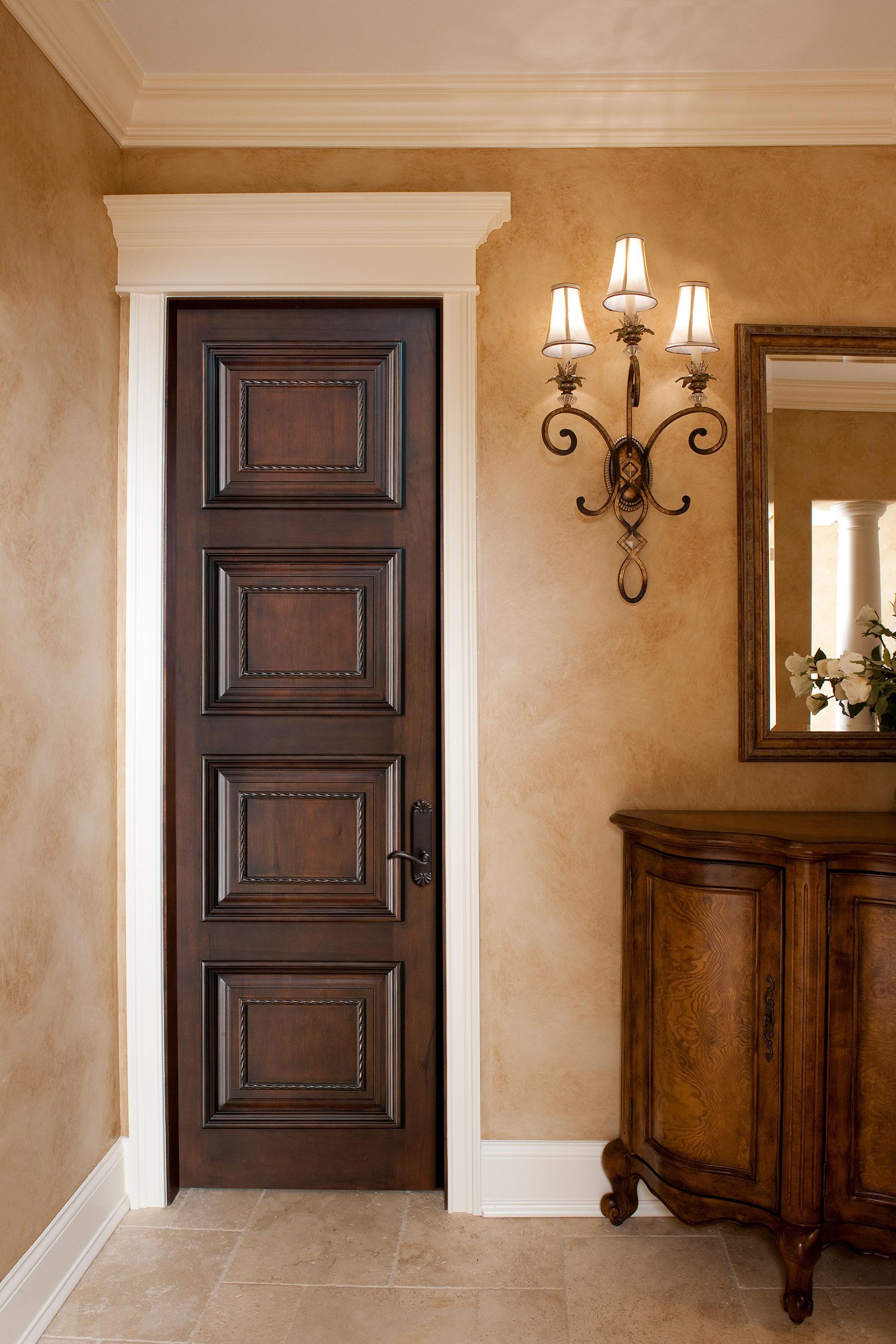 Custom Wood Interior Doors | Custom Interior  Door with Decorative bead and Raised Moulding DBI-4000D - Glenview Doors - Custom Doors in Chicago