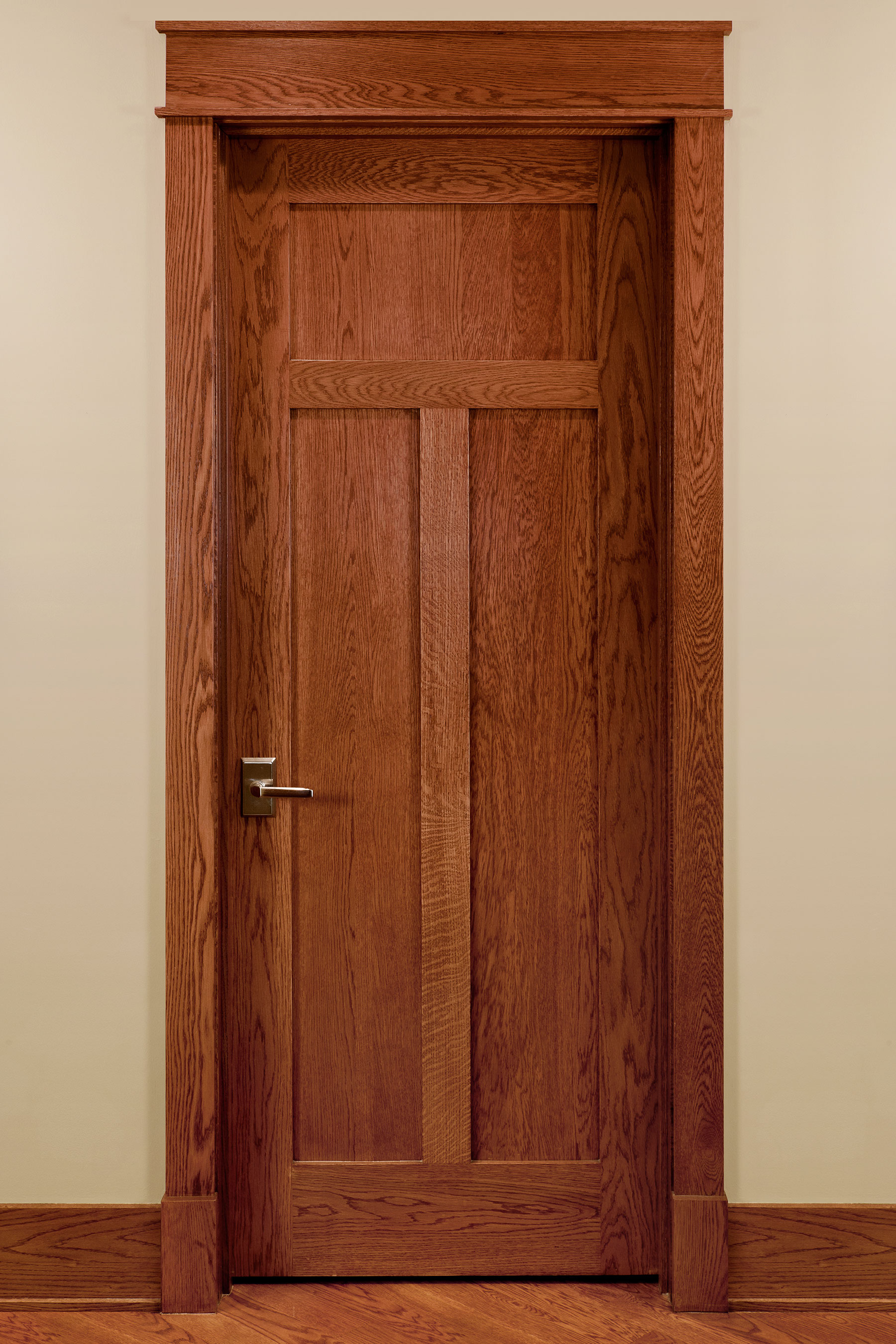 Custom Wood Interior Doors   Craftsman Style Custom Interior Wood Doors    Glenview Haus   Custom
