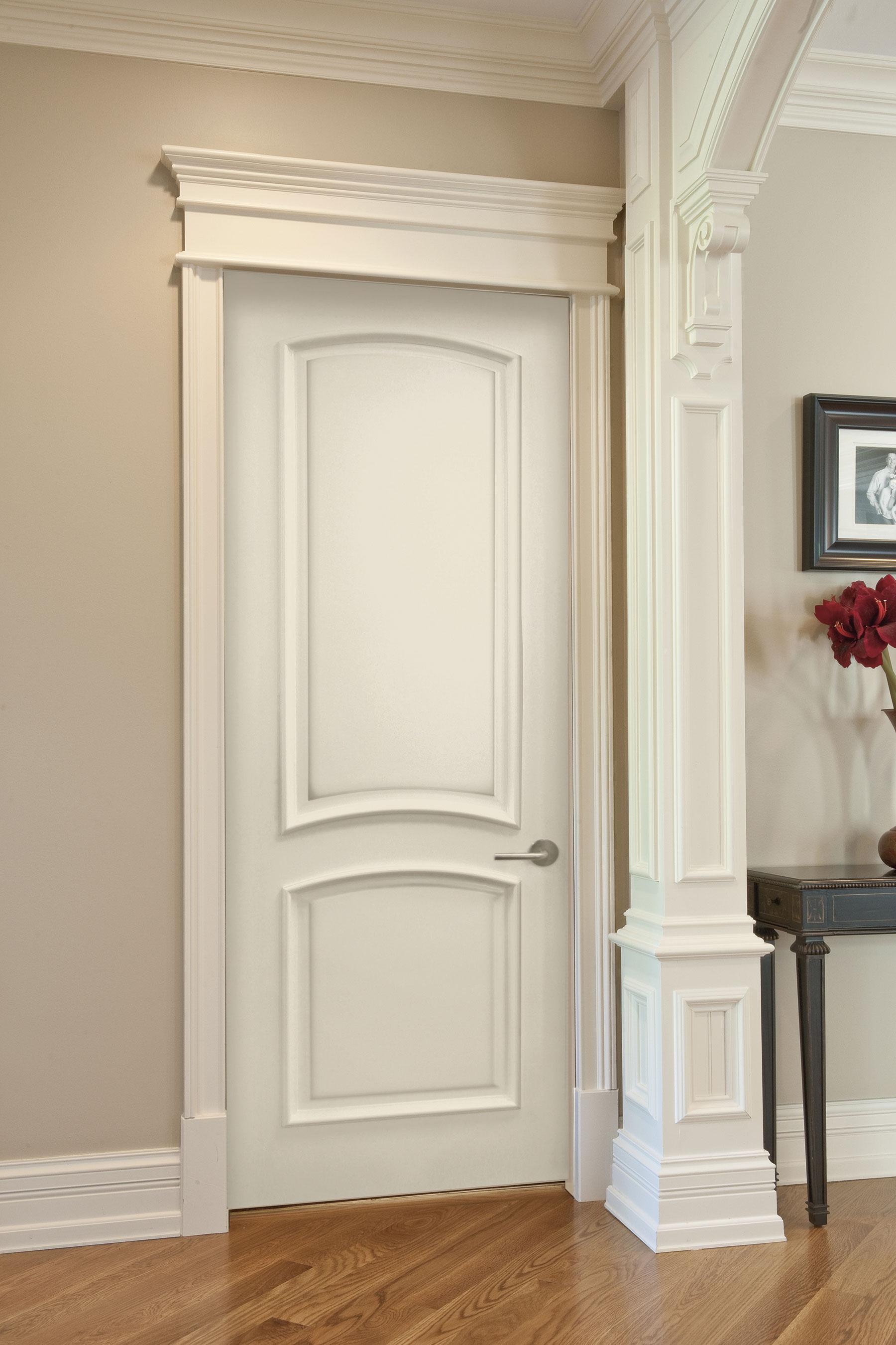 Custom Wood Interior Doors | Custom Paint-Grade MDF Interior Powder Room Door   - Glenview Doors - Custom Doors in Chicago