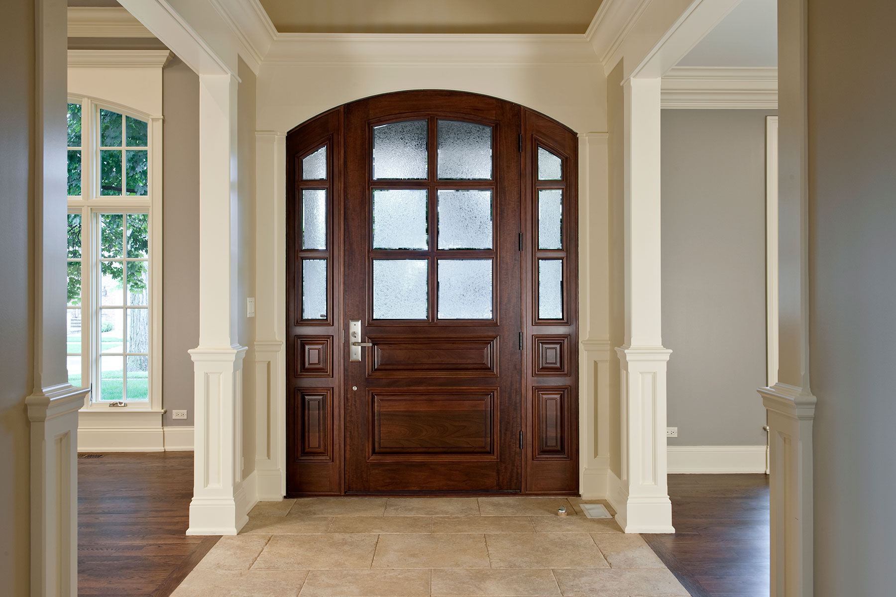 Classic Collection Solid Wood Entry Door True Divided