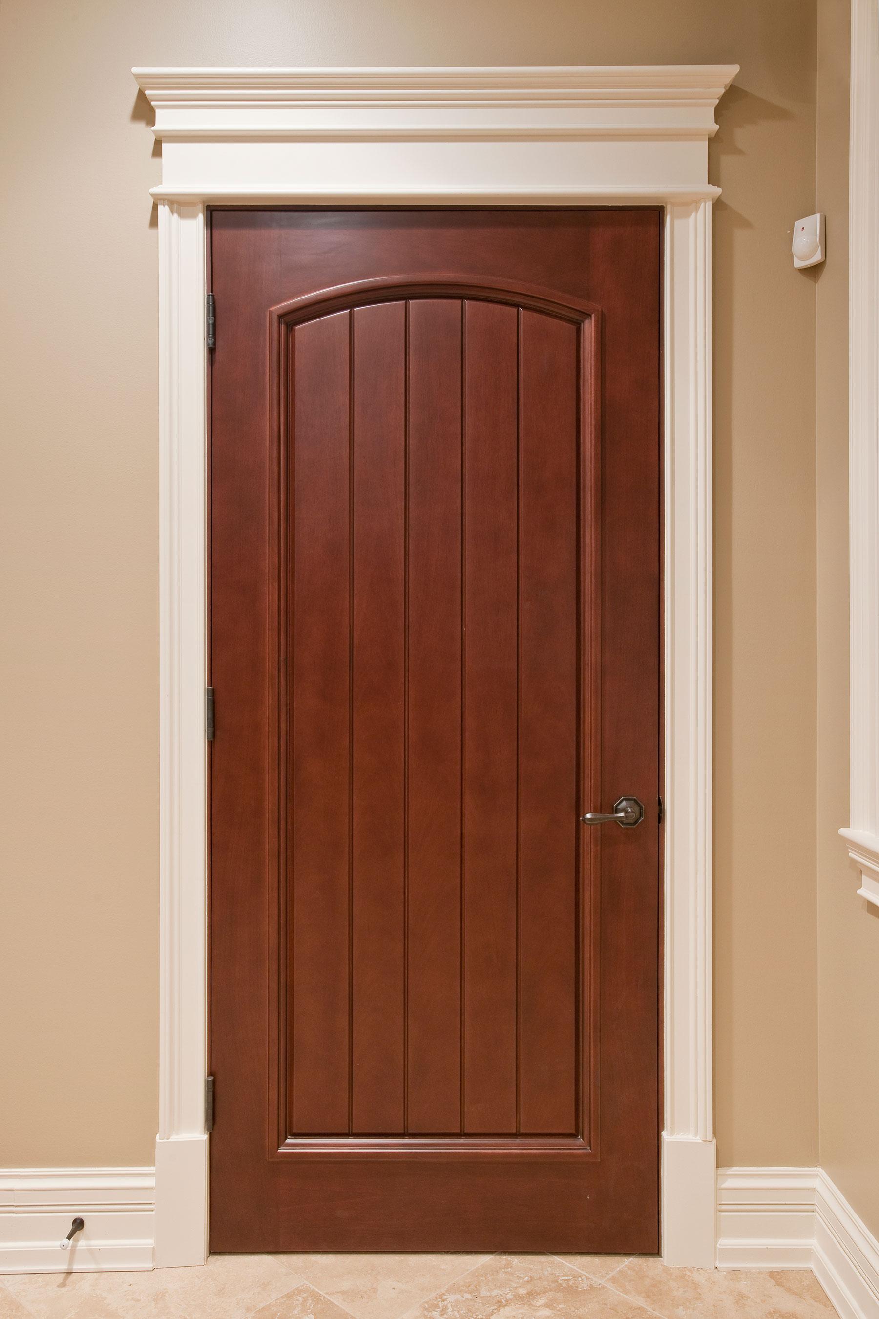 Custom Wood Interior Doors | Single V-groove Panel Made-to-Order Interior Door DBI-501 - Glenview Doors - Custom Doors in Chicago