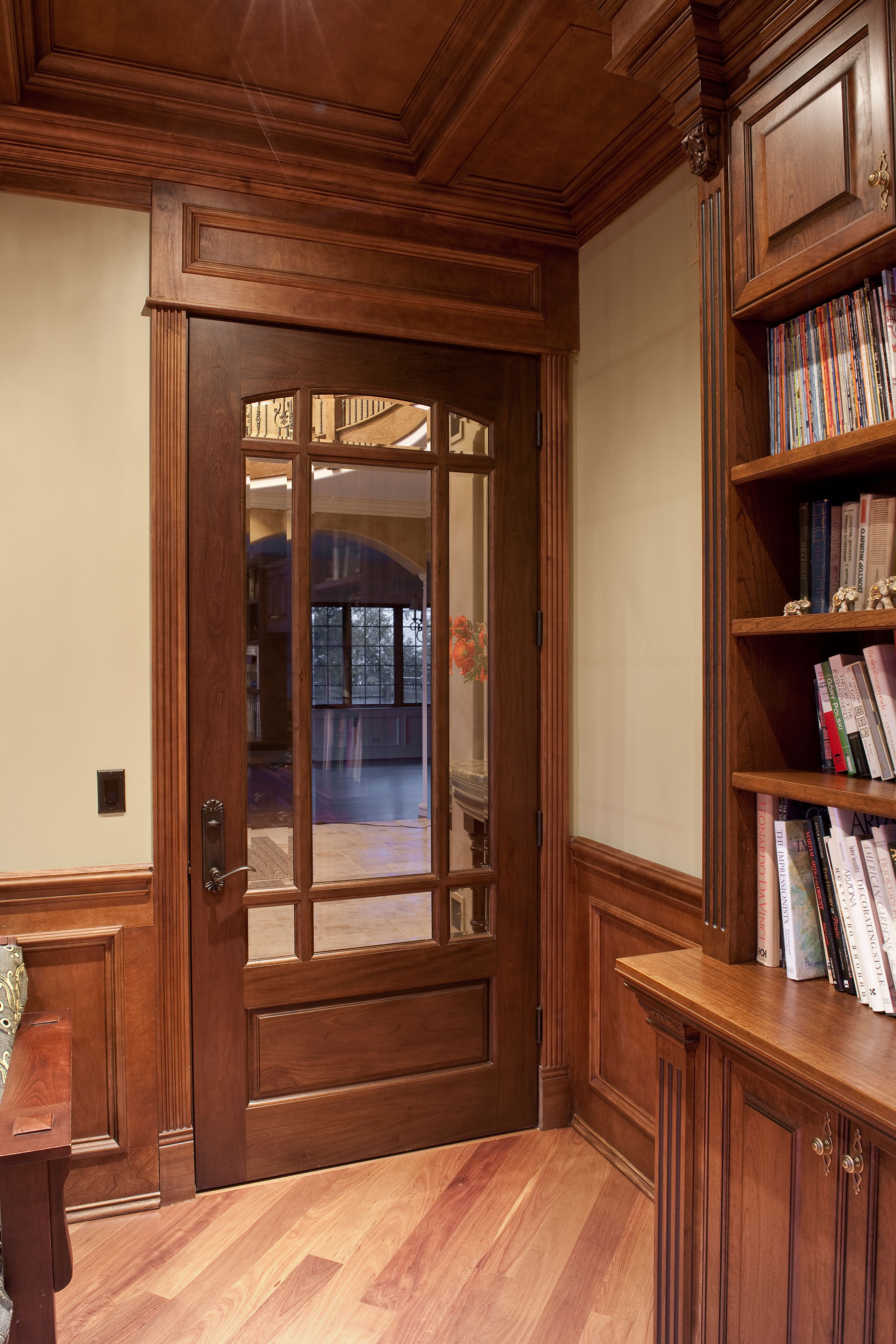 Custom Wood Interior Doors | Interior Door with  Glass and Prefinished Prairie Grills  DBI-511 - Glenview Doors - Custom Doors in Chicago