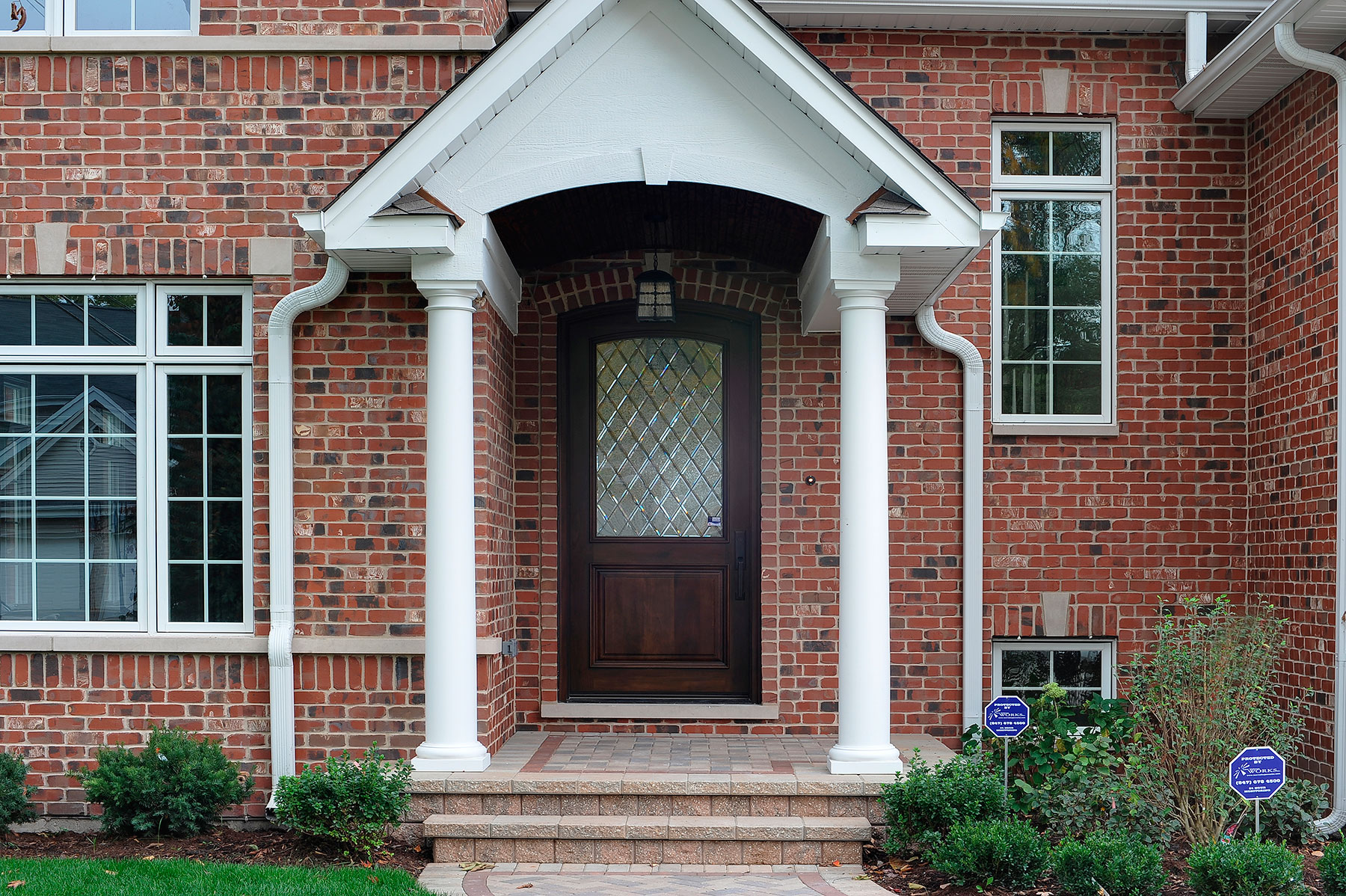 Solid Wood Front Entry Doors in-Stock | Classic Diamond Collection Solid Wood Front Entry Door - Diamond Leaded Privacy Glass DB-552WDG - Glenview Doors - Custom Doors in Chicago