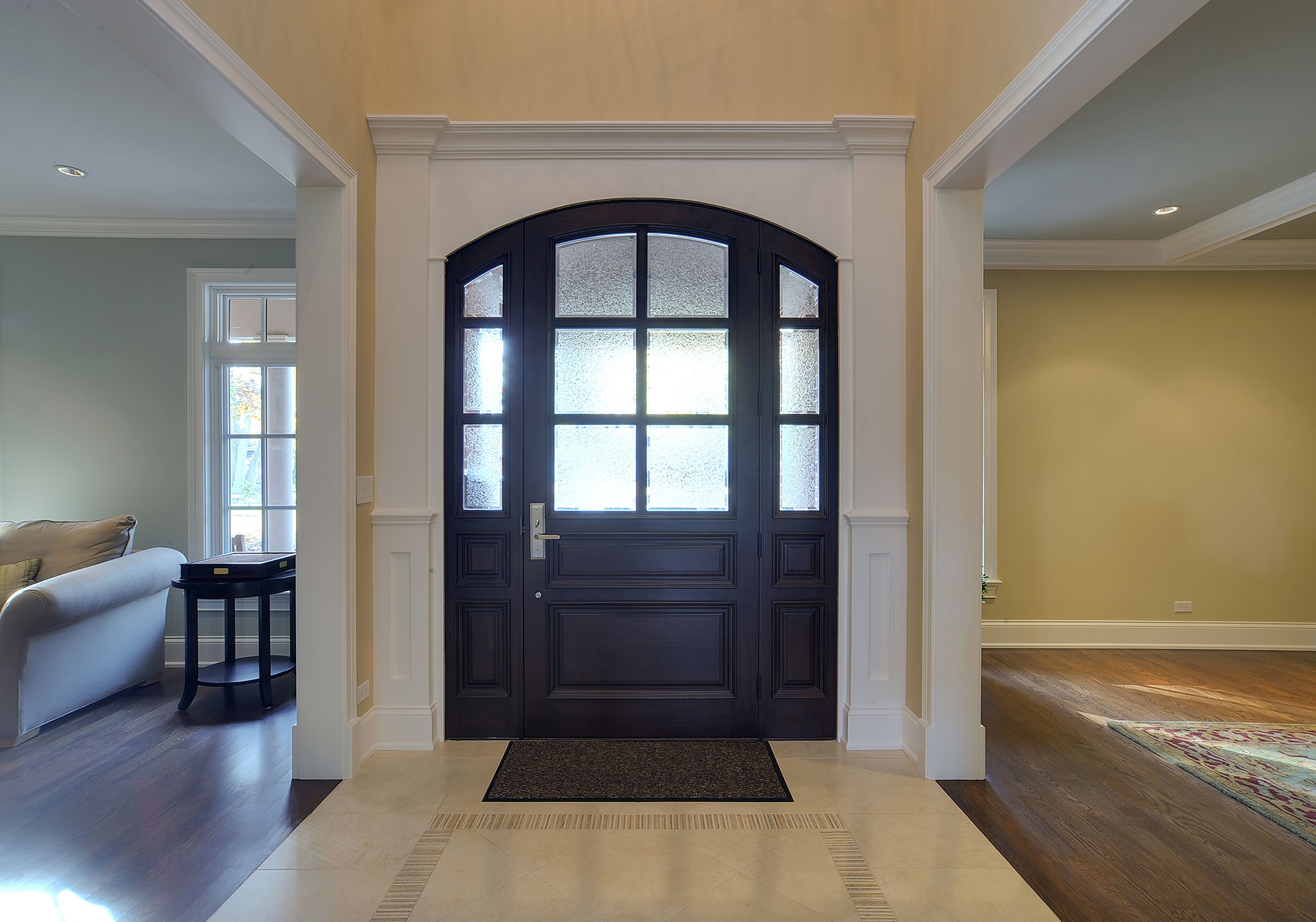 Solid Wood Front Entry Doors in-Stock | Classic Collection Solid Wood Front Entry Door - Privacy Glass  DB-652W 2SL - Glenview Doors - Custom Doors in Chicago