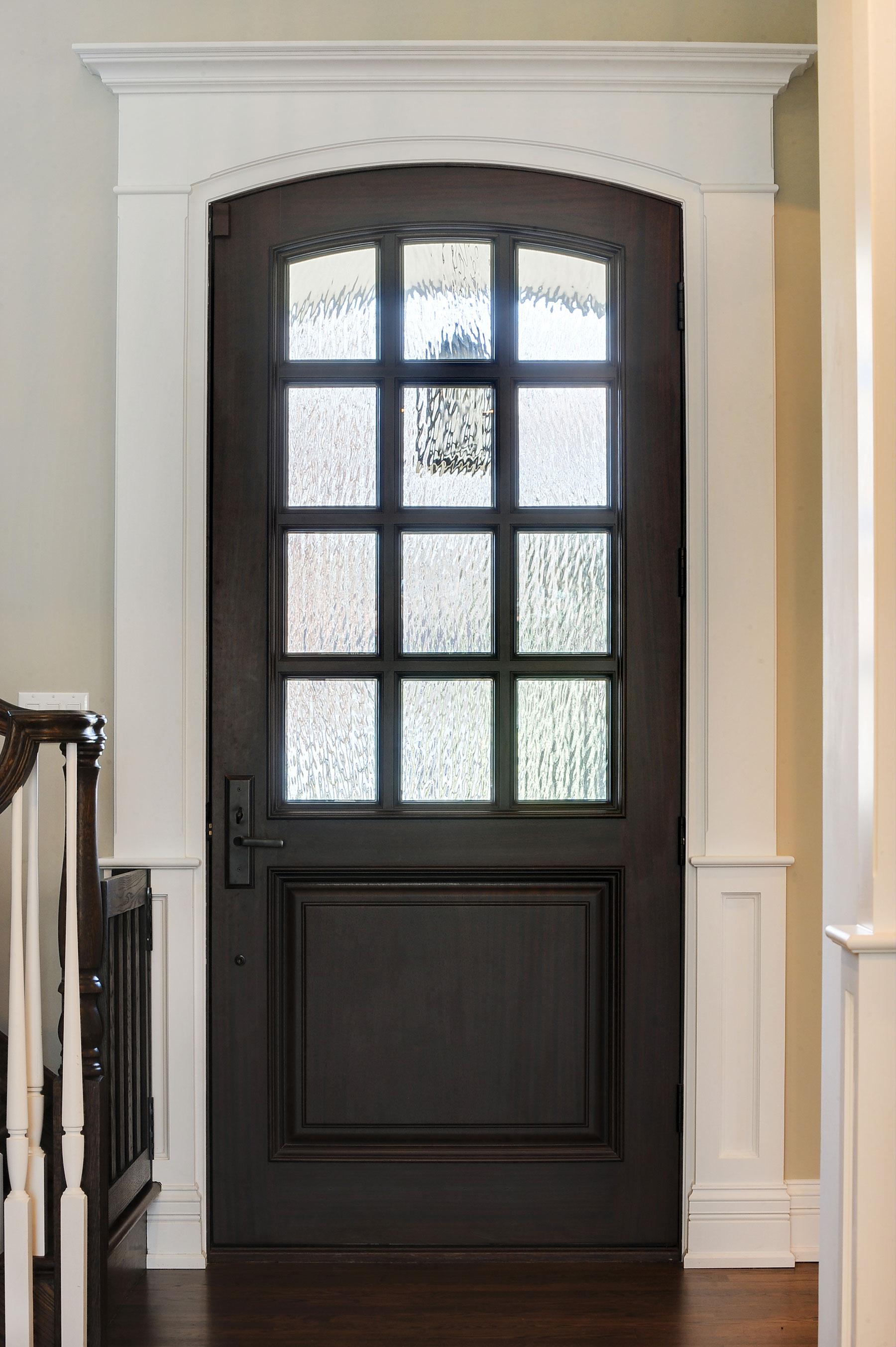 Custom Wood Front Entry Doors | 12 lite single entry door in solid wood, single panel  DB-012WA - Glenview Doors - Custom Doors in Chicago