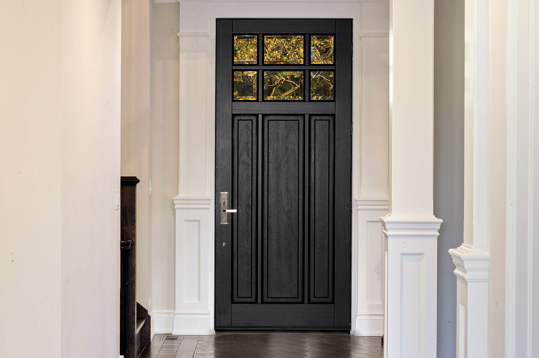 Custom Wood Front Entry Doors | high end front entry door for single family home DB-311PW - Glenview Doors - Custom Doors in Chicago