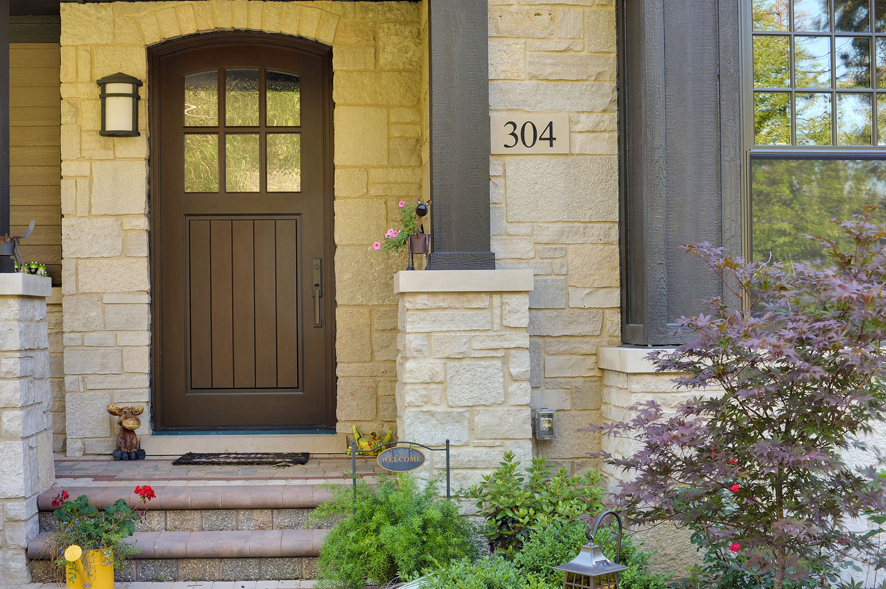 Custom Wood Front Entry Doors | solid wood front entry door in dark finish for high end home  - Glenview Doors - Custom Doors in Chicago