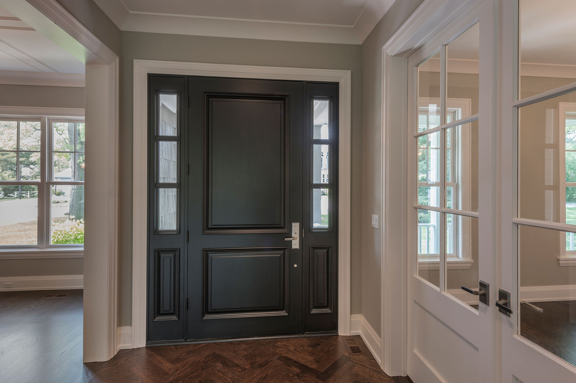 Wood Front Entry Doors in-Stock | Classic Solid Wood (Euro Technology) Front Entry Door  DB-301PW 2SL - Glenview Doors - Custom Doors in Chicago