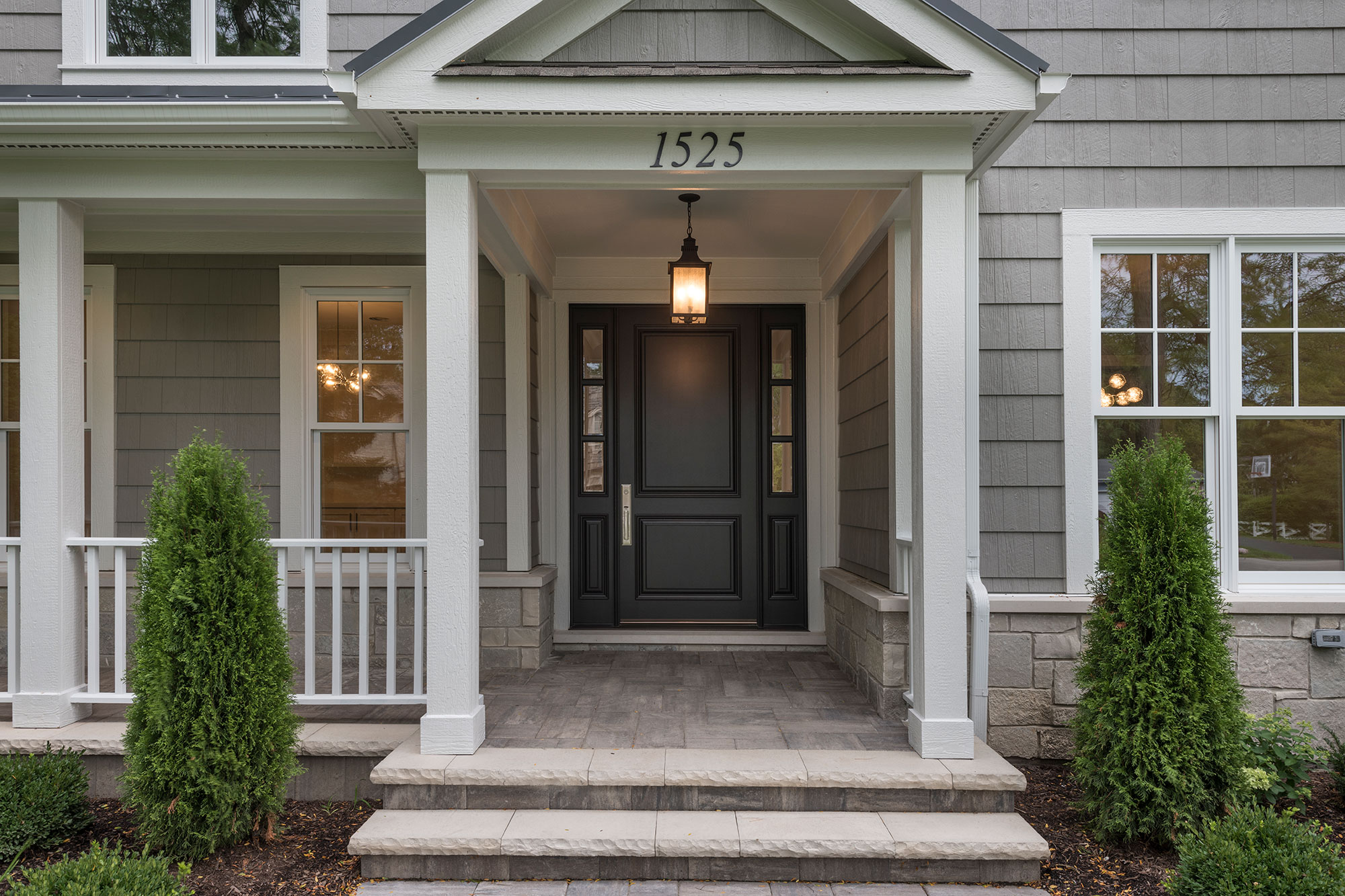 Wood Front Entry Doors in-Stock | furniture quality dark finish on classic front entry door DB-301PW 2SL - Glenview Doors - Custom Doors in Chicago