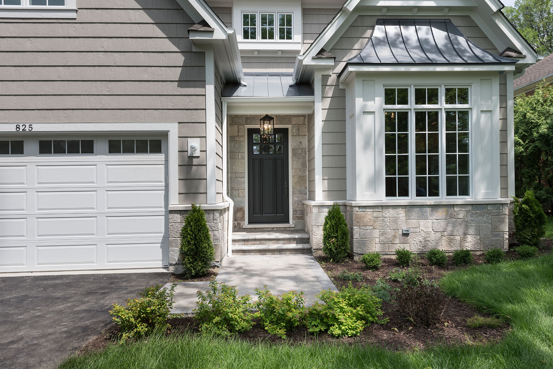 Wood Front Entry Doors in-Stock | transitional single door from mahogany wood in espresso finish  DB-311PW 2SL - Glenview Doors - Custom Doors in Chicago