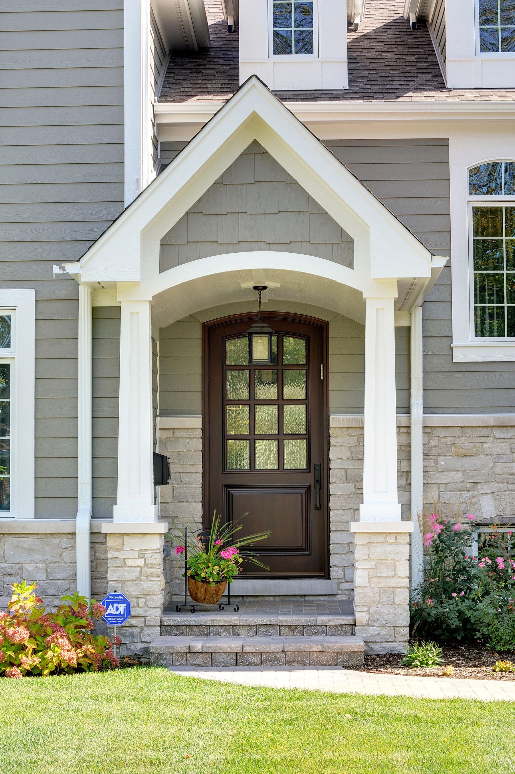 Custom Wood Front Entry Doors | Custom Solid Mahogany Wood Door  DB-012WA - Glenview Doors - Custom Doors in Chicago