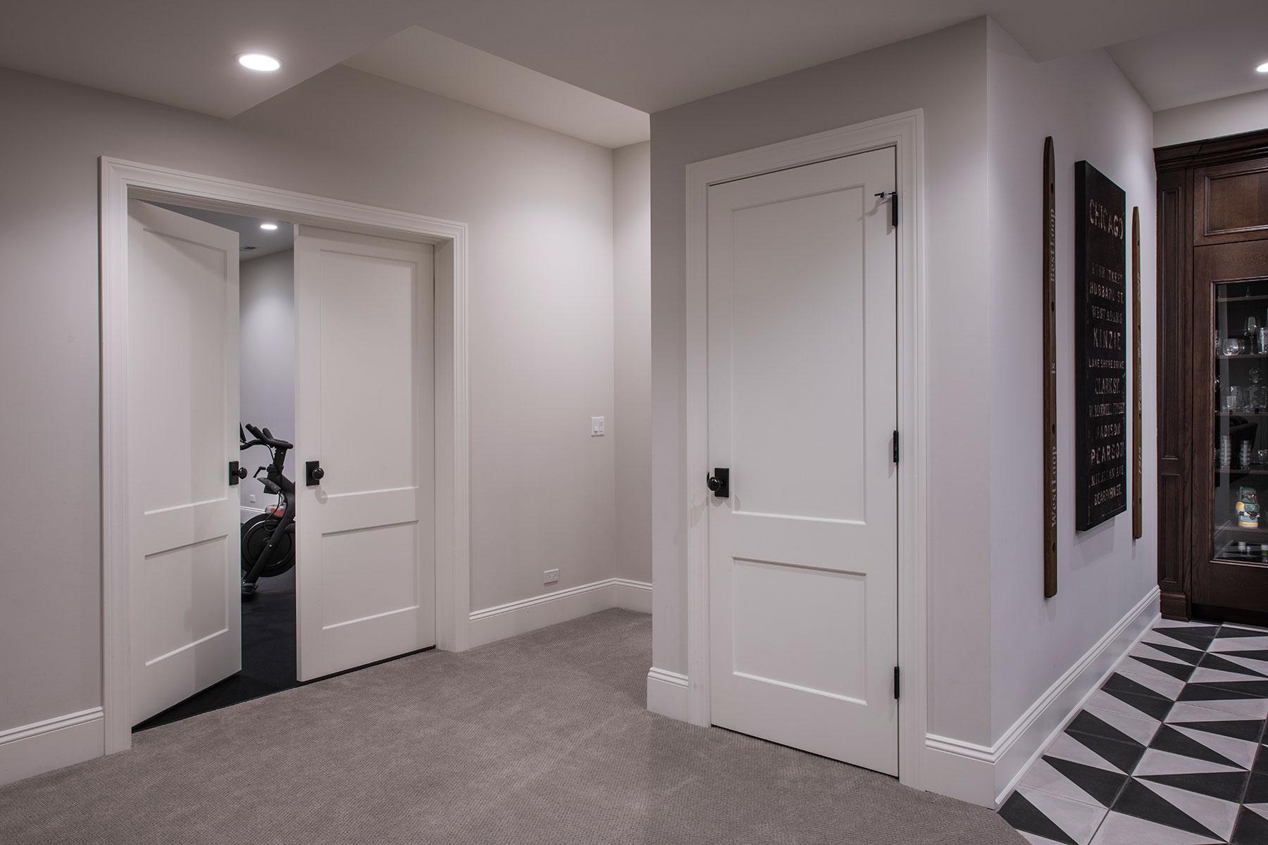 Custom Wood Interior Doors | Paint Grade Custom Interior Door Double Doors, and Single Door, Solid  - Glenview Doors - Custom Doors in Chicago