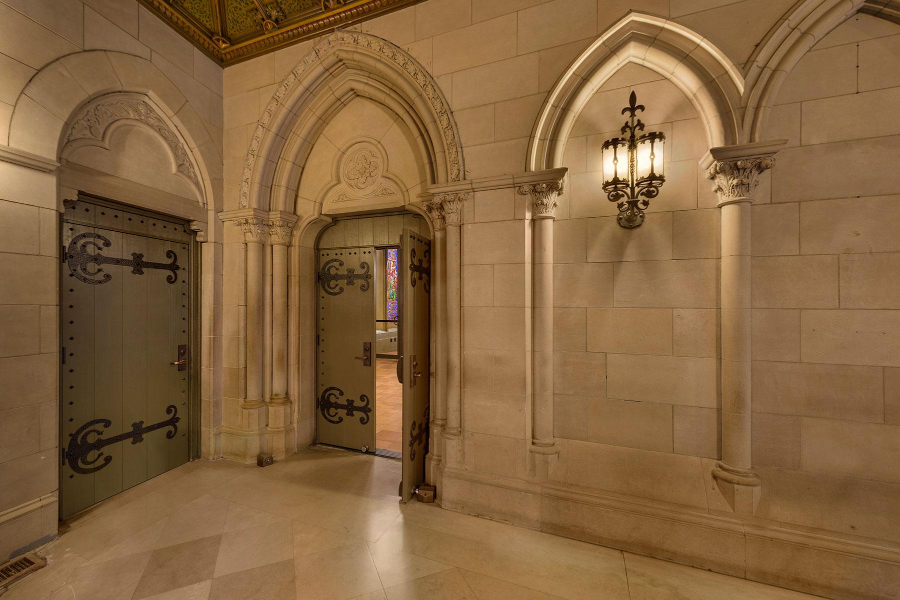 Custom Wood Interior Doors | Historical Renovation Fire Rated Doors - Chicago Church  - Glenview Doors - Custom Doors in Chicago