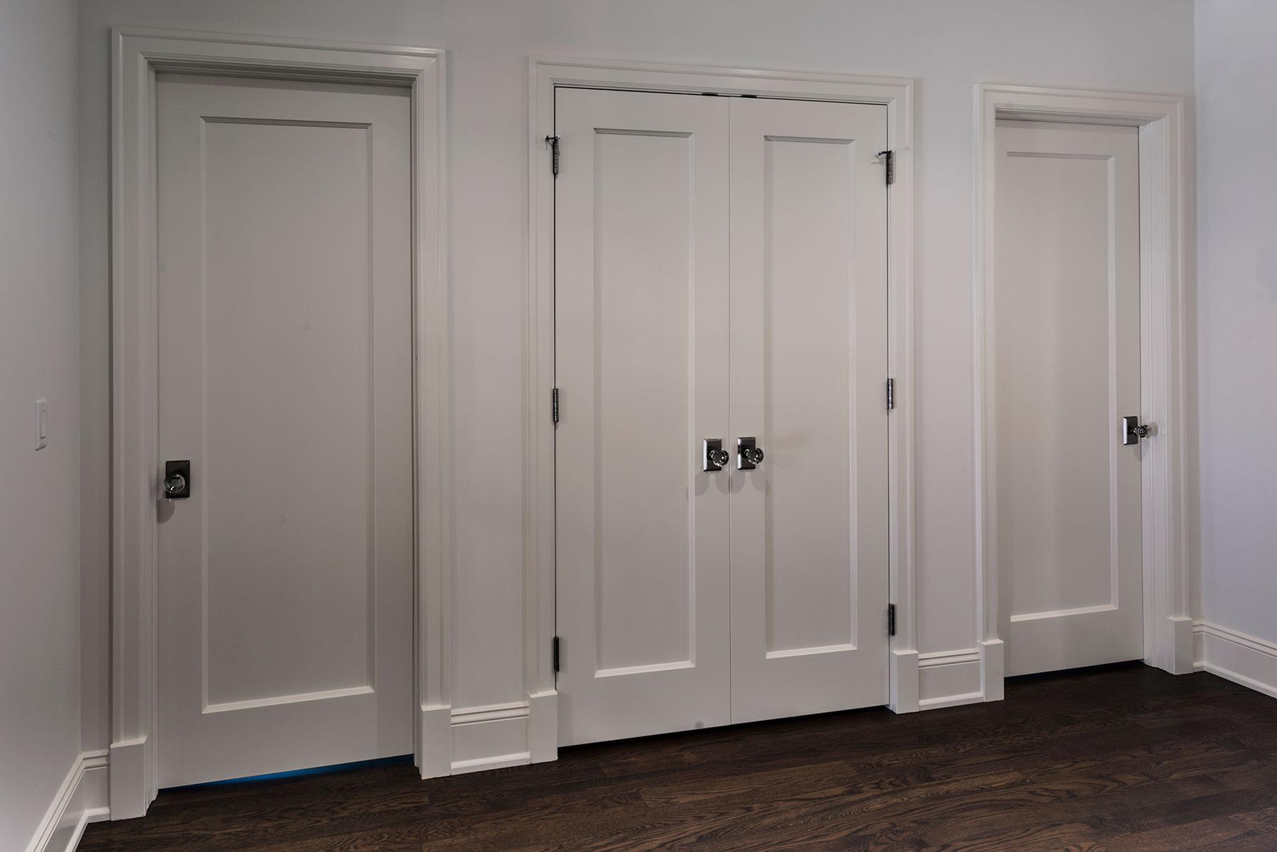 Custom Wood Interior Doors | Single Panel Paint Grade MDF doors For Closet and Bedroom Entrance  - Glenview Doors - Custom Doors in Chicago