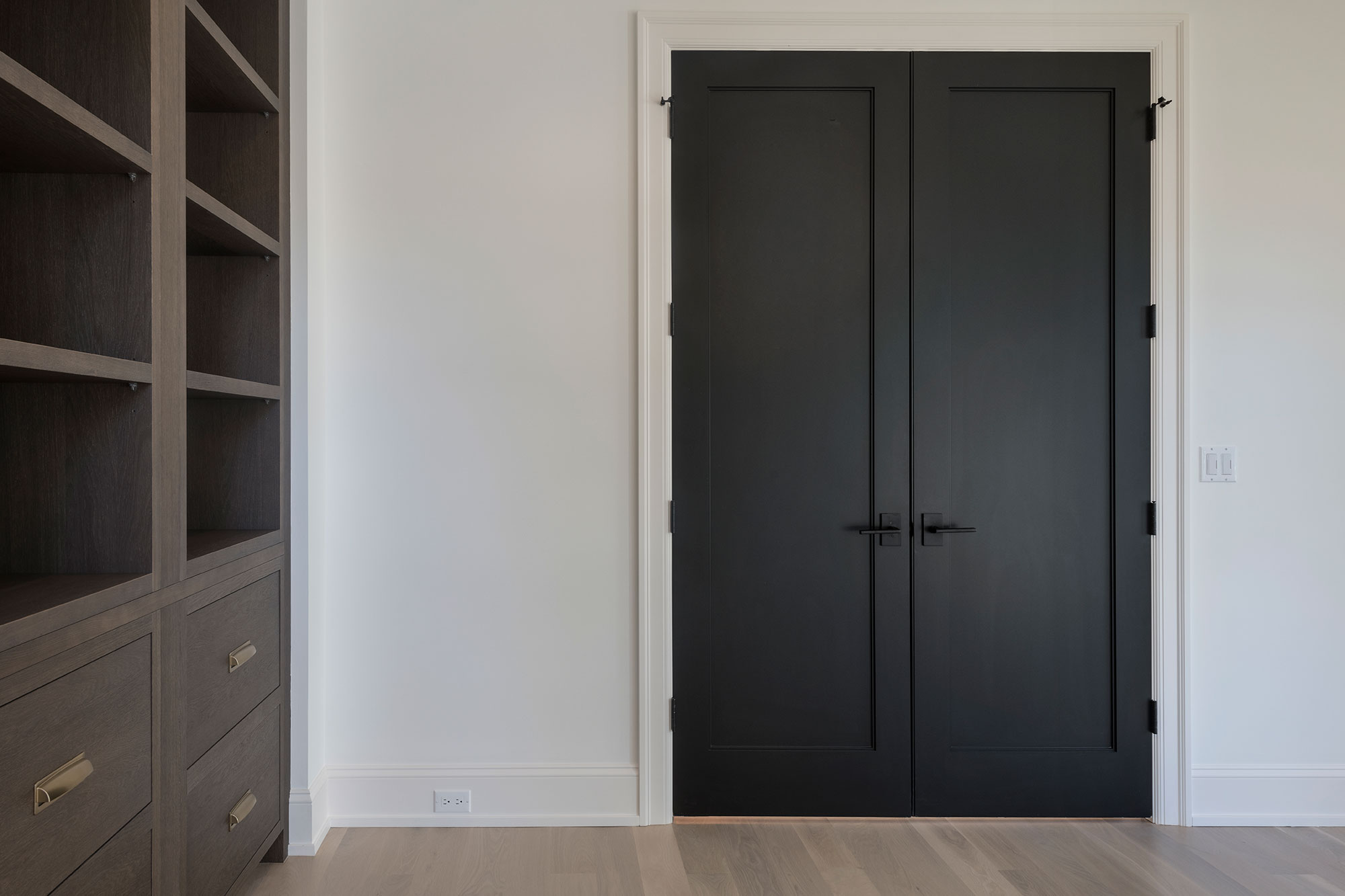 Custom Wood Interior Doors | black paint grade custom interior doors  - Glenview Doors - Custom Doors in Chicago