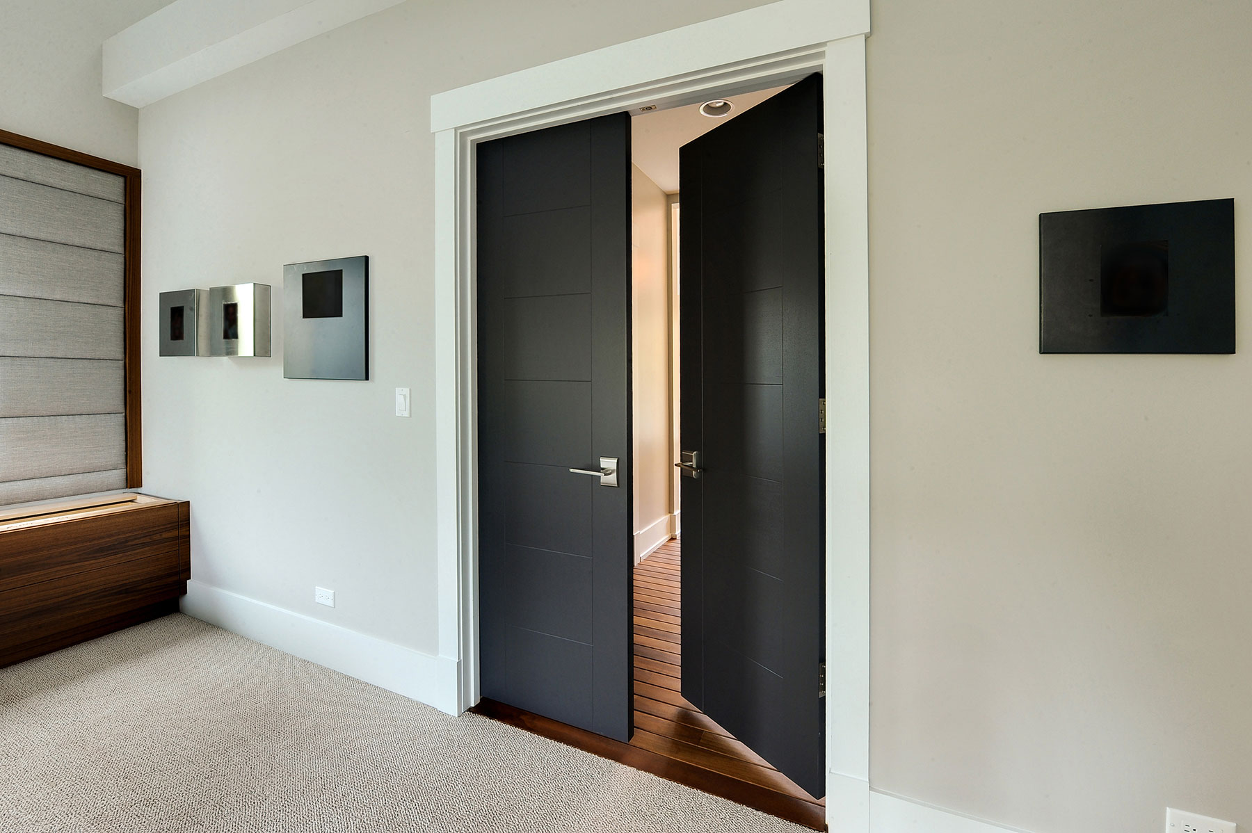 Modern Interior Door For Custom Modern Interior Wood Double Door 232 Single Veneer Solid Core