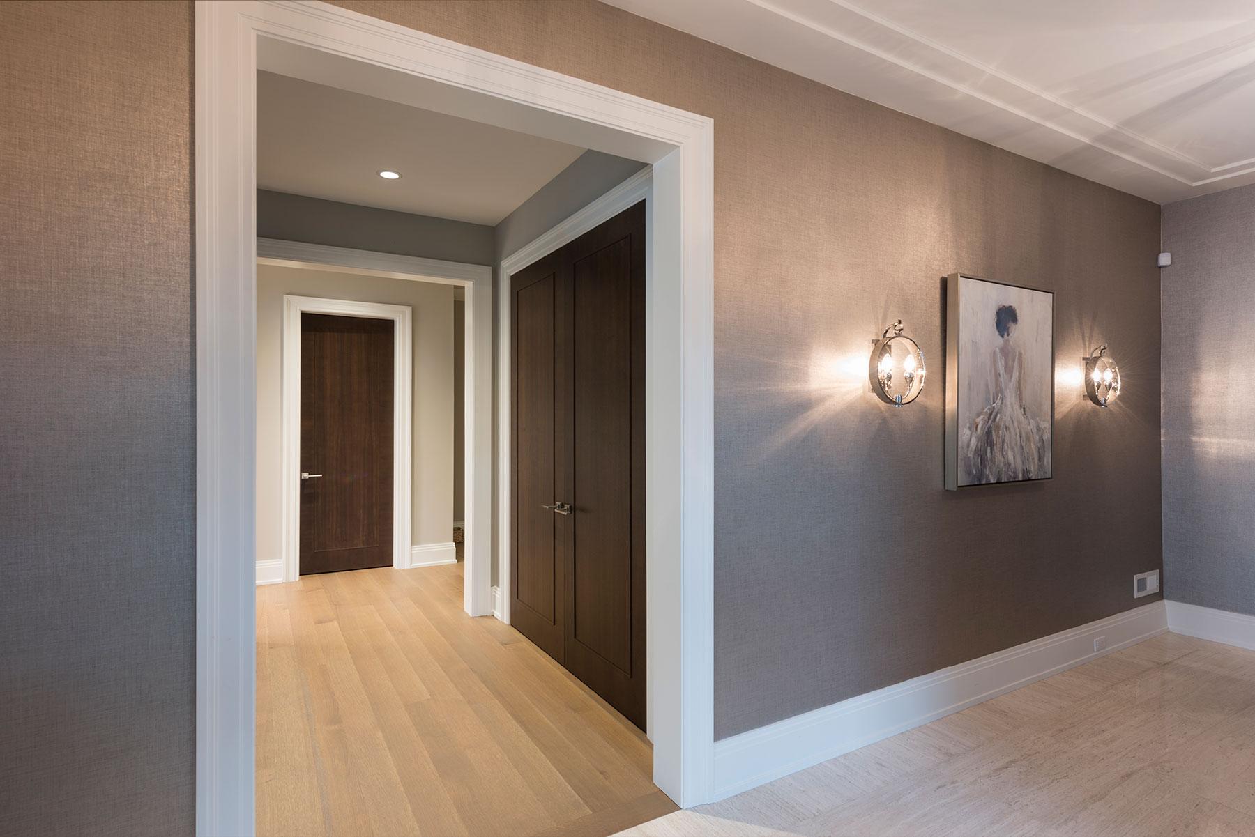 Custom Wood Interior Doors | Foyer, Office Double Doors GDIM MD1005    Glenview Haus