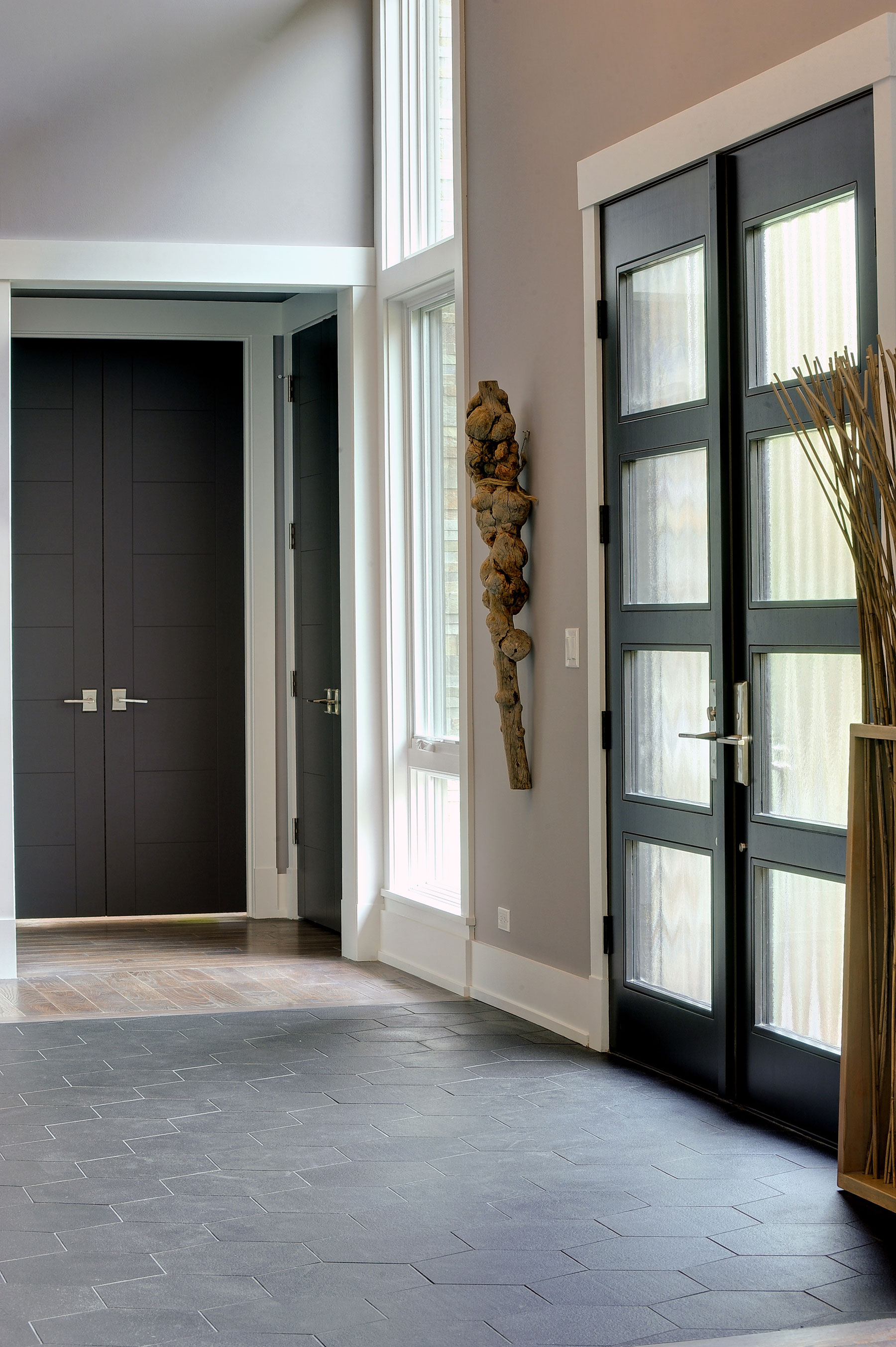Custom Wood Front Entry Doors | Modern Custom Wood Door   DB-EMD-823 DD CST - Glenview Doors - Custom Doors in Chicago
