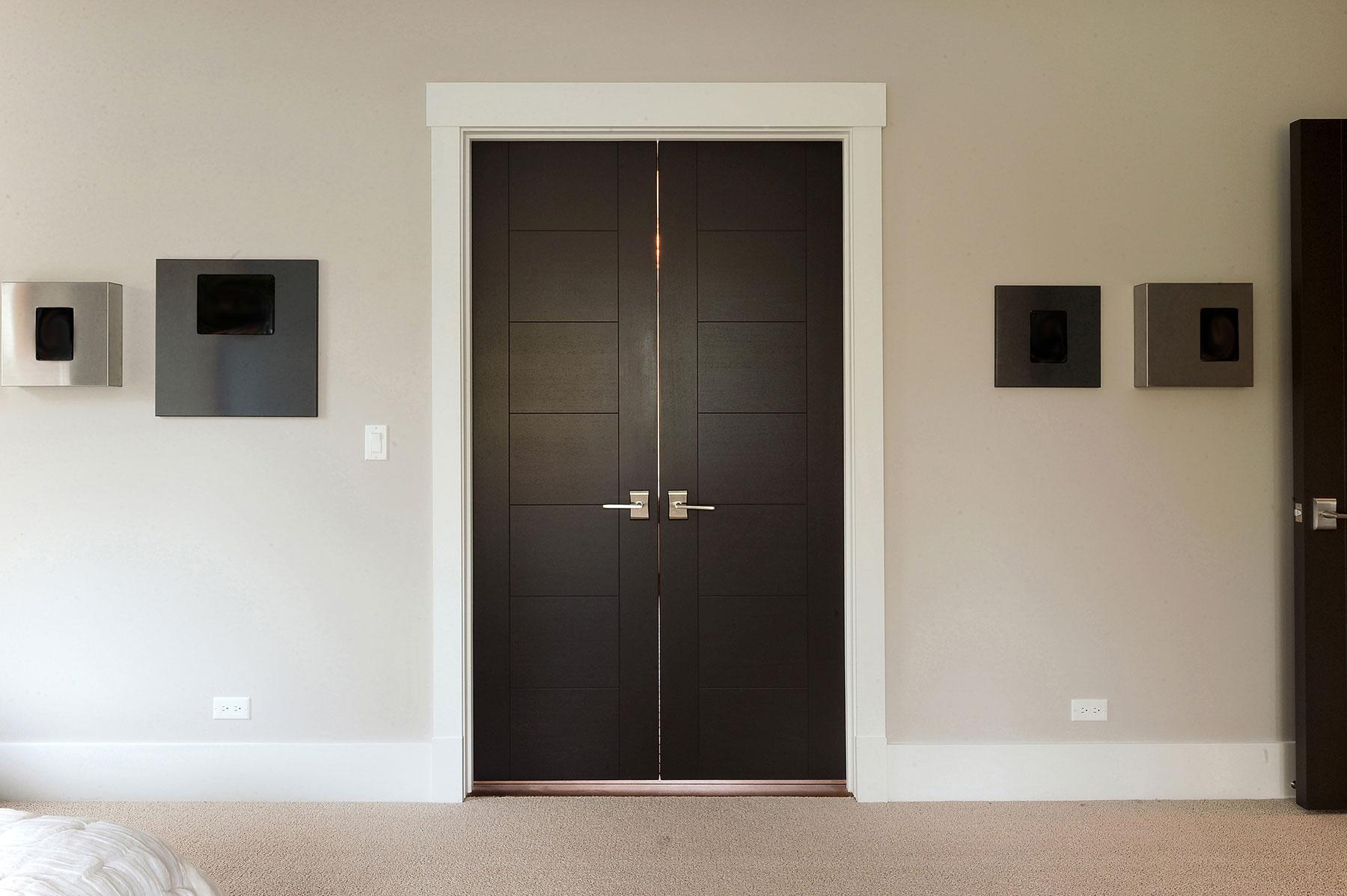 Custom Modern Interior Wood Double Door #233 & MODERN INTERIOR DOORS Wood Veneer Solid Core Custom - Glenview ...