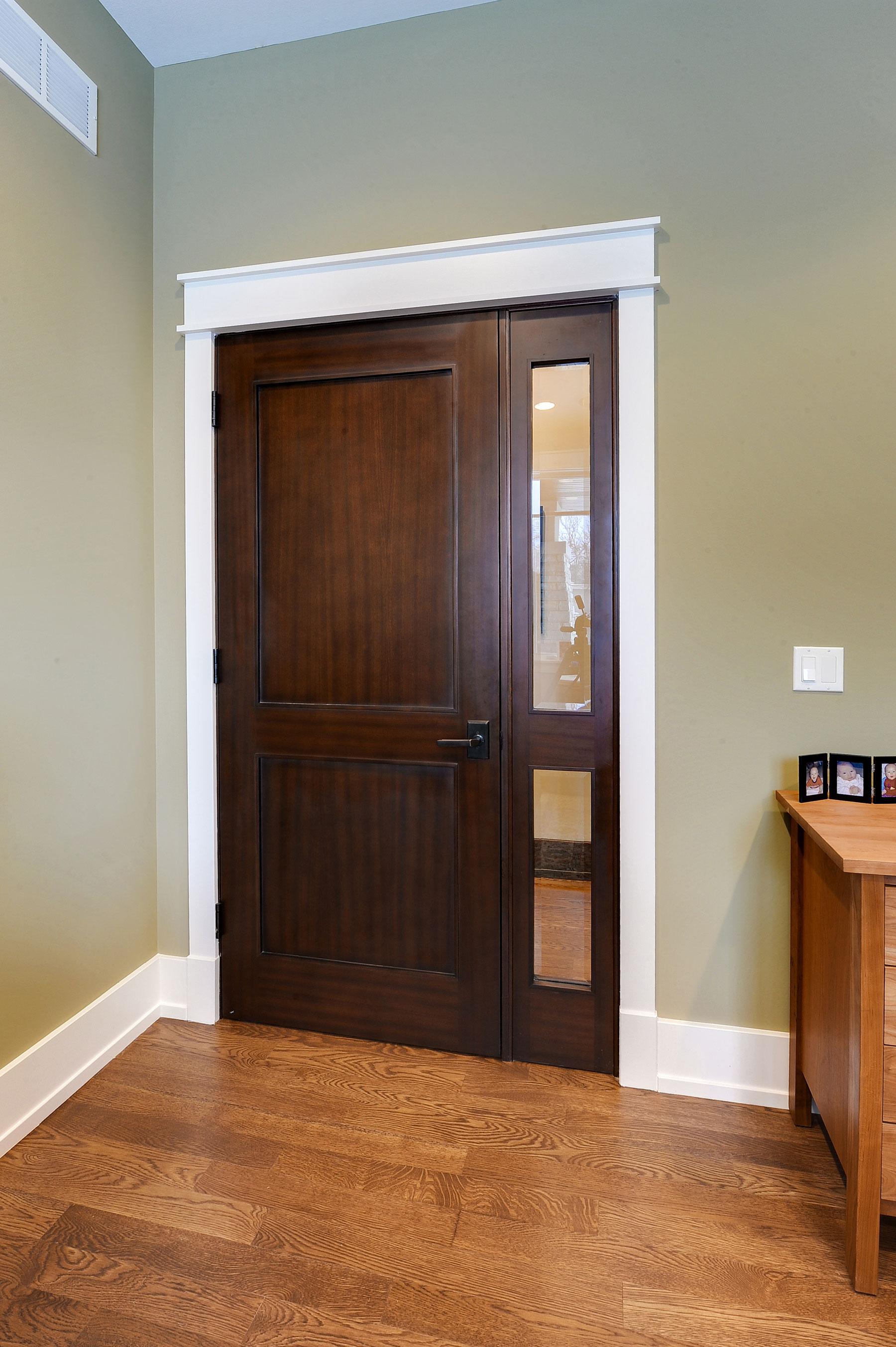 Custom Wood Interior Doors | Custom Interior Door with 1 Sidelite,  Beveled Glass  - Glenview Doors - Custom Doors in Chicago