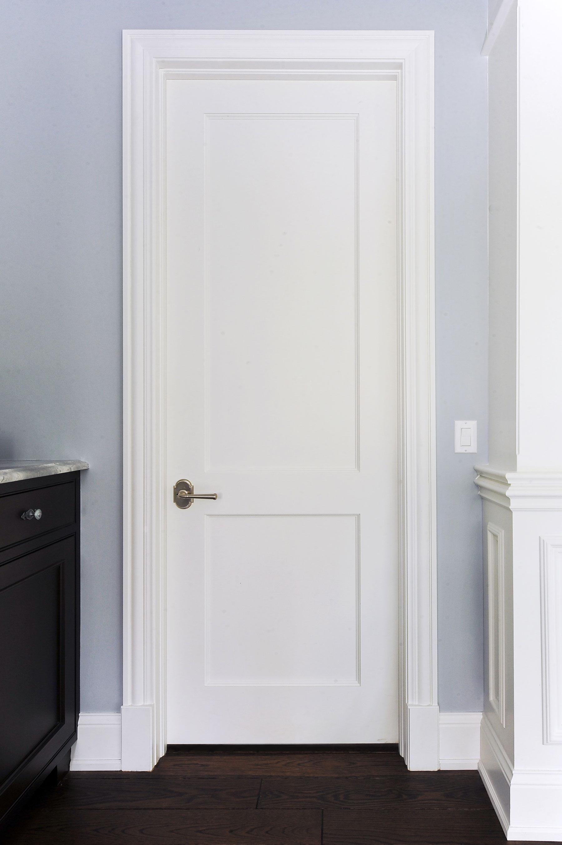 Custom Wood Interior Doors | 2 Flat Panel MDF Paint grade Interior Door  - Glenview Doors - Custom Doors in Chicago