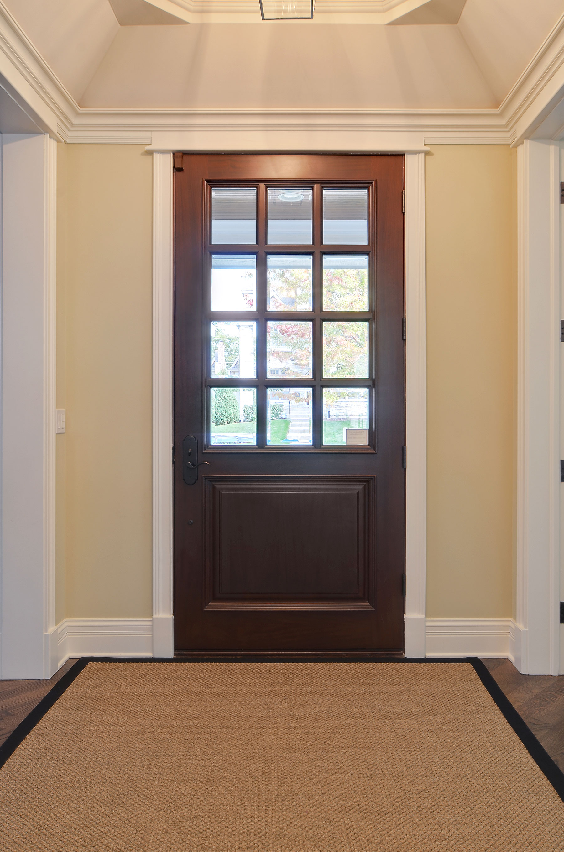 Solid Wood Front Entry Doors in-Stock | solid wood front entry door, clear glass, 12 lite DB-012W - Glenview Doors - Custom Doors in Chicago
