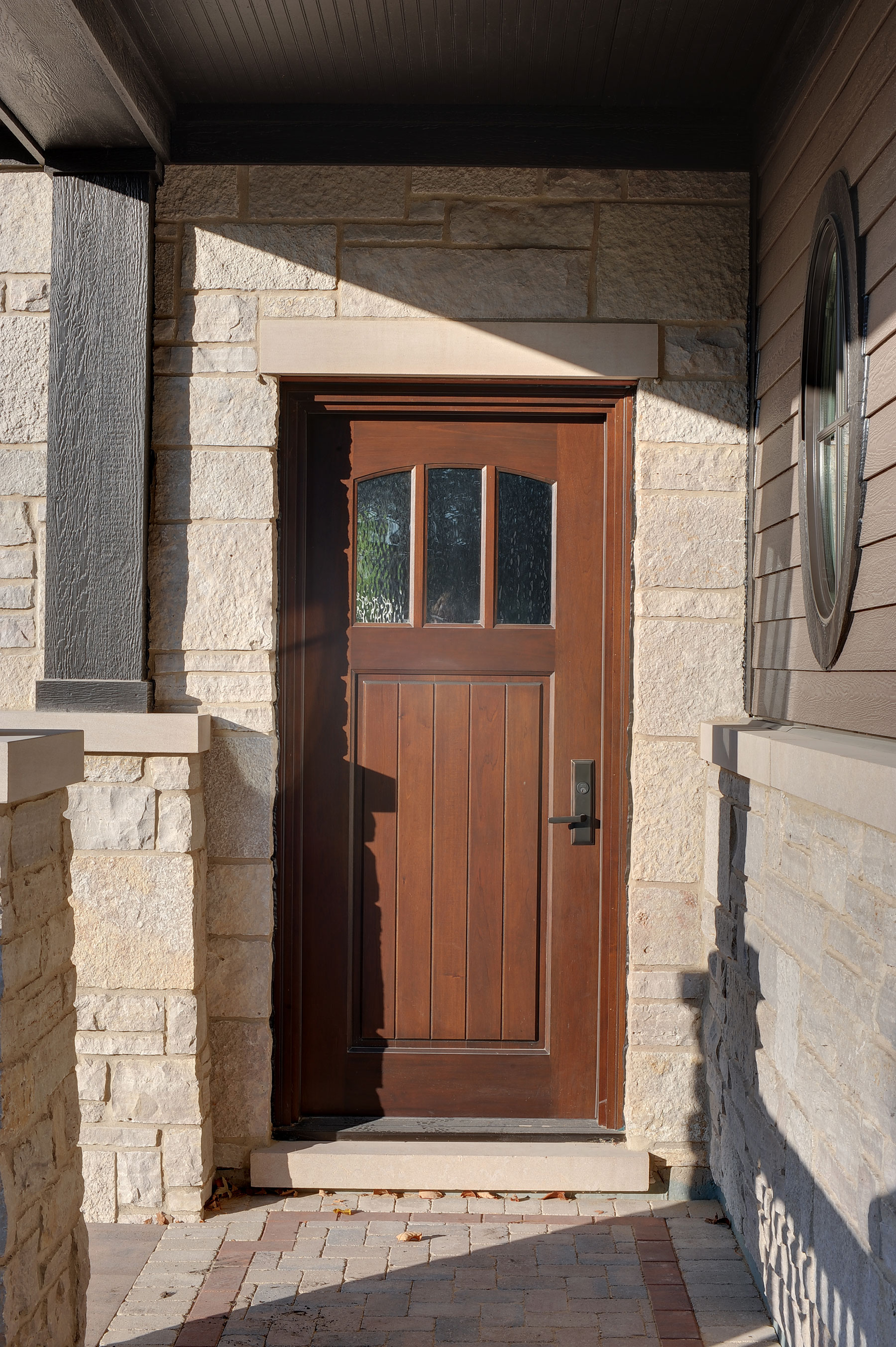 Custom Wood Front Entry Doors | solid wood entry door in warm finish for luxury home  - Glenview Doors - Custom Doors in Chicago