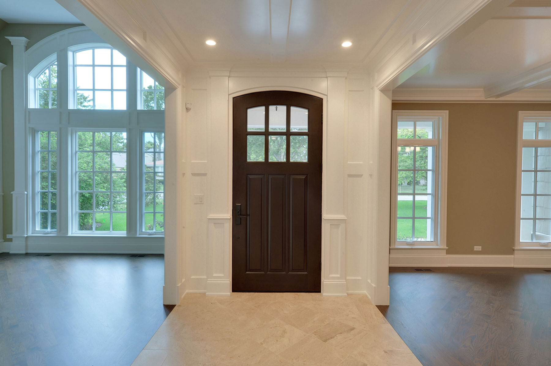 Solid Wood Front Entry Doors in-Stock | Classic  French Solid Wood Front Entry Door - Clear Beveled Glass GD-112WA - Glenview Haus - Custom Doors, Wine Cellars and Cabinets in Chicago