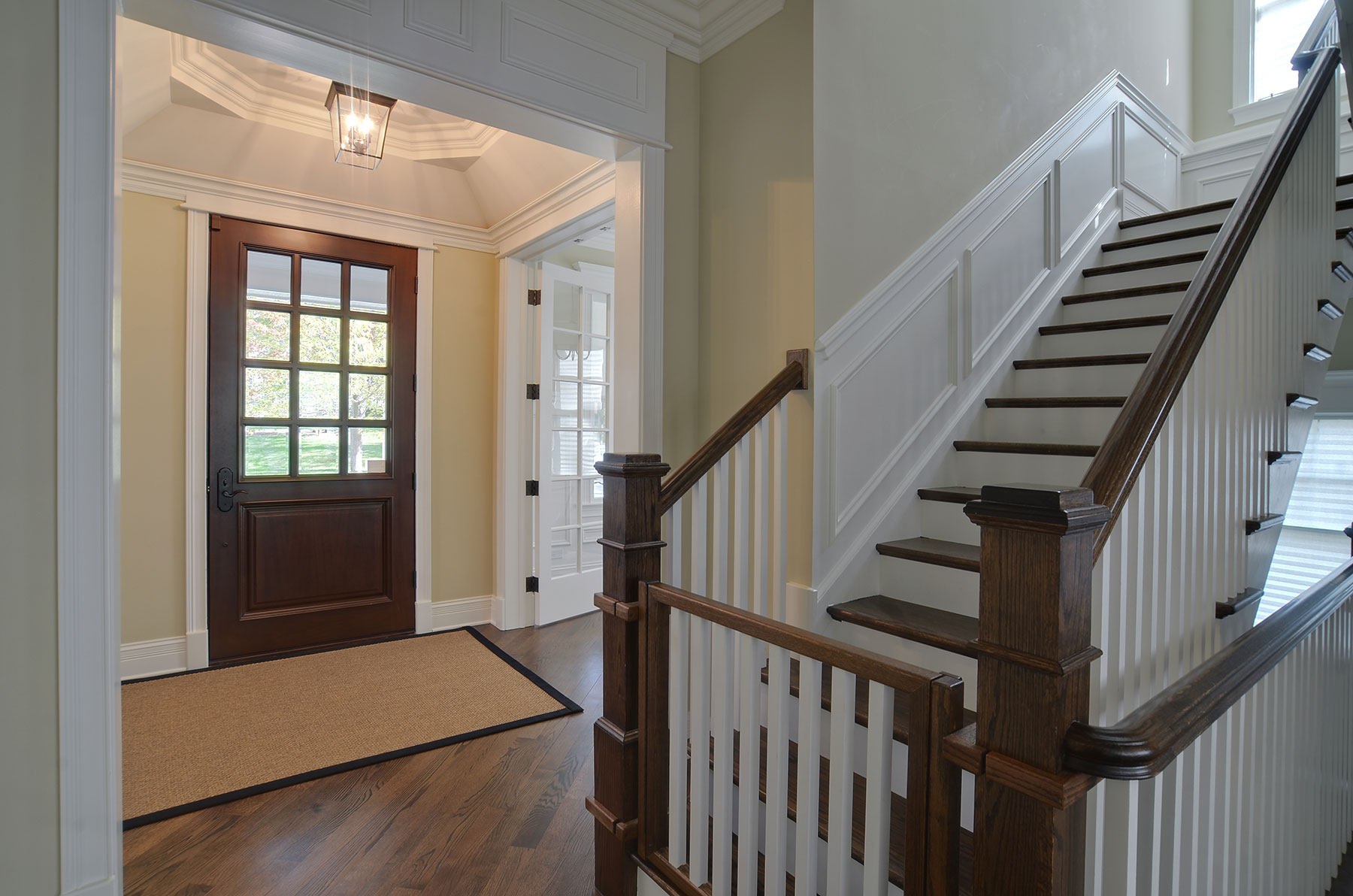 Solid Wood Front Entry Doors in-Stock | Classic Collection French Solid Wood Front Entry Door - Clear Beveled Glass DB-012W - Glenview Doors - Custom Doors in Chicago