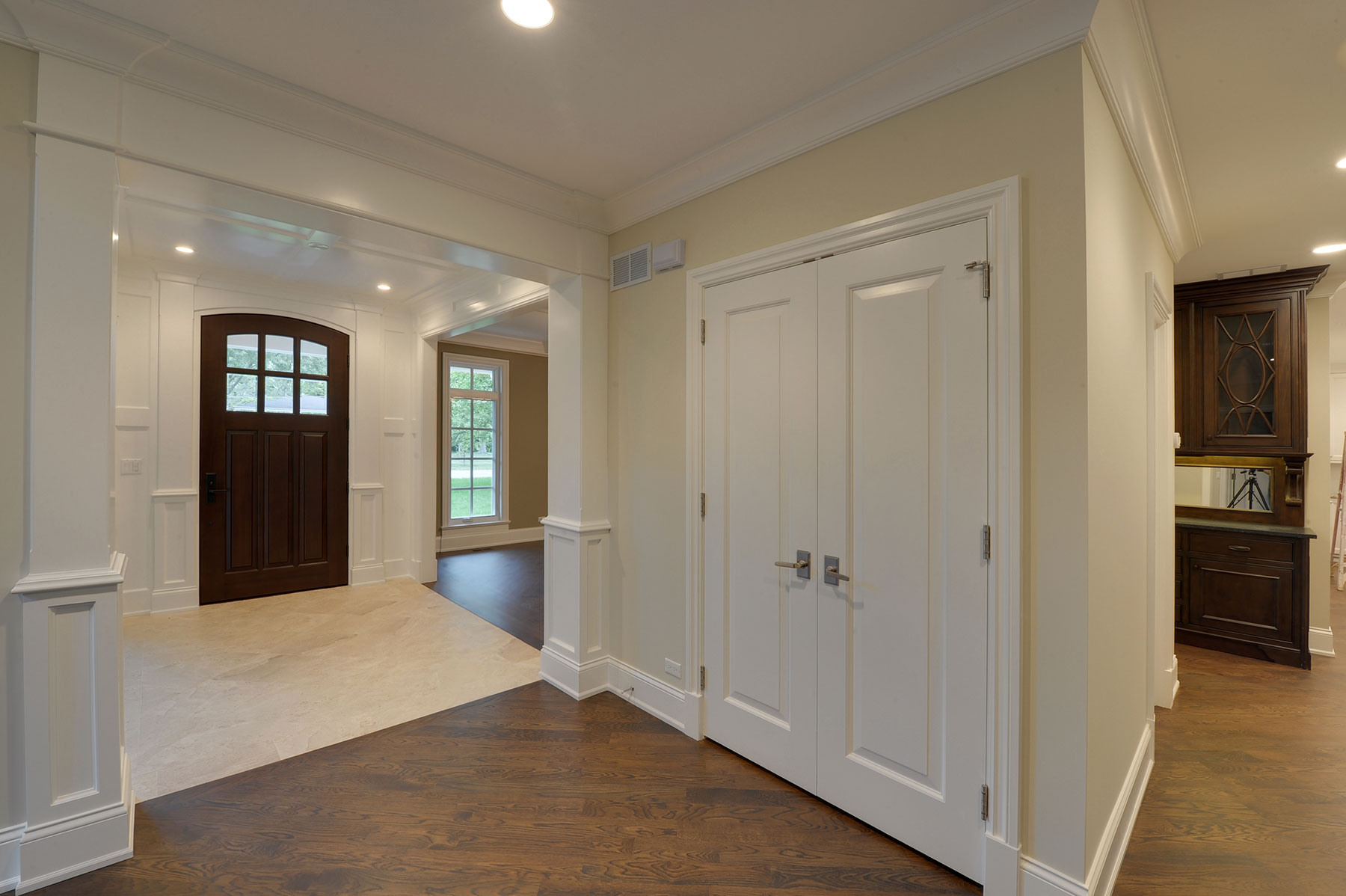Custom Wood Interior Doors | Classic Collection French Solid Wood Front Entry Door - Clear Beveled Glass DB-112WA - Glenview Doors - Custom Doors in Chicago