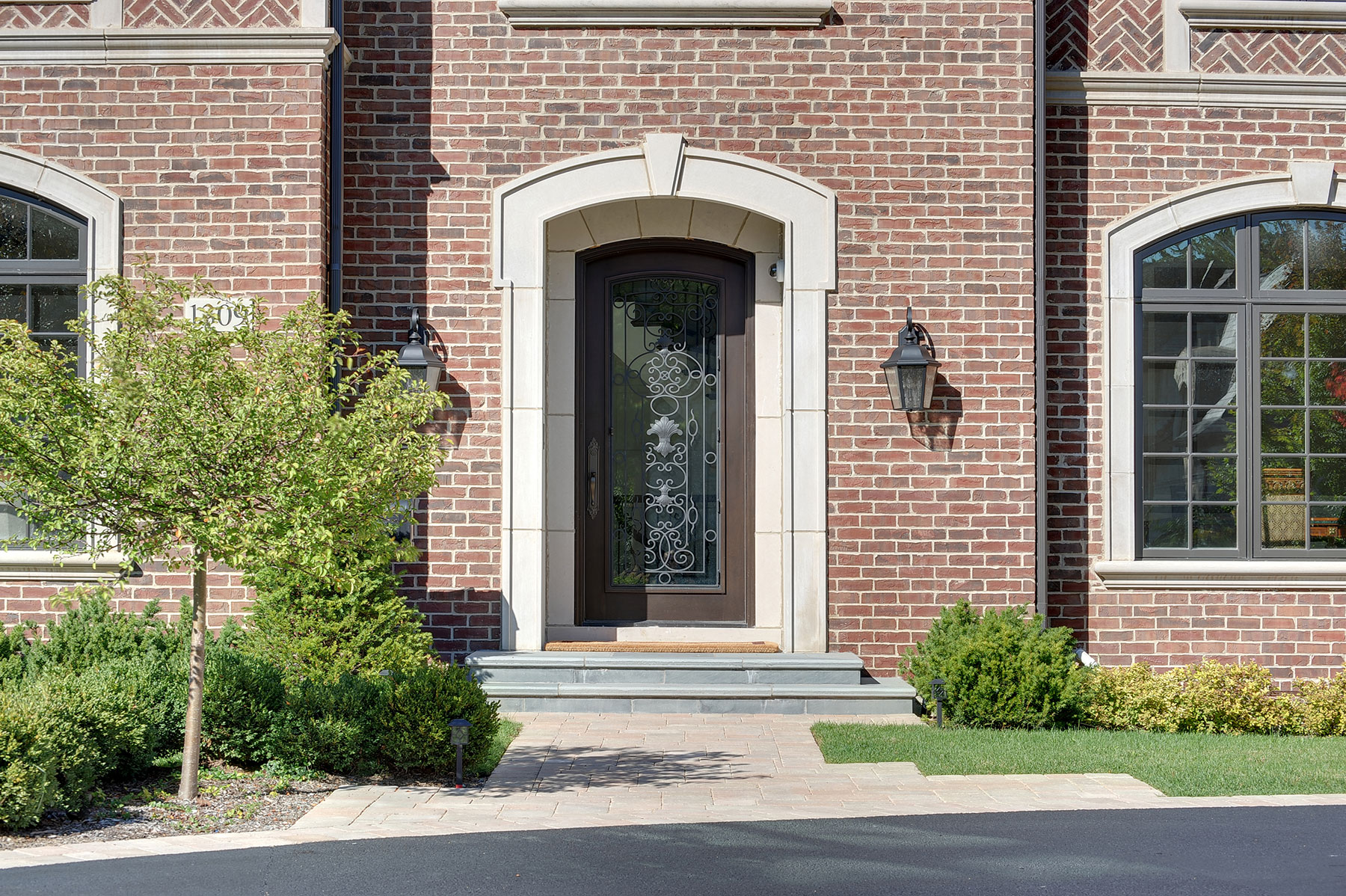 Custom Wood Front Entry Doors | Custom Solid Mahogany Wood Door With Wrought  Iron, Heritage