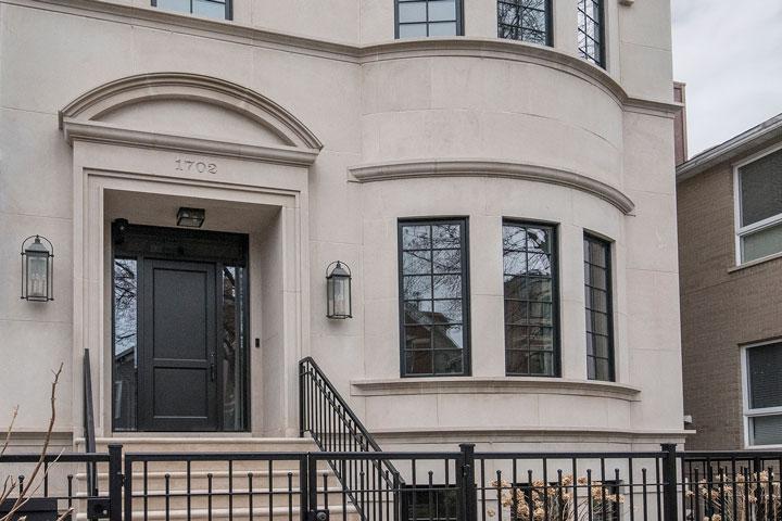 Classic Front Door.  1702 N Burling St Chicago Single Family Home Front Door DB-201PT 2SL F