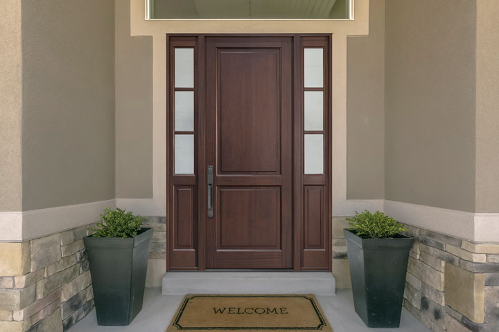 Classic Entry Door.  classic wood entry door, single DB-202PT 2SL