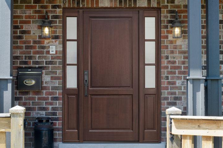 Classic Entry Door.  classic wood entry door, single DB-202PW 2SL