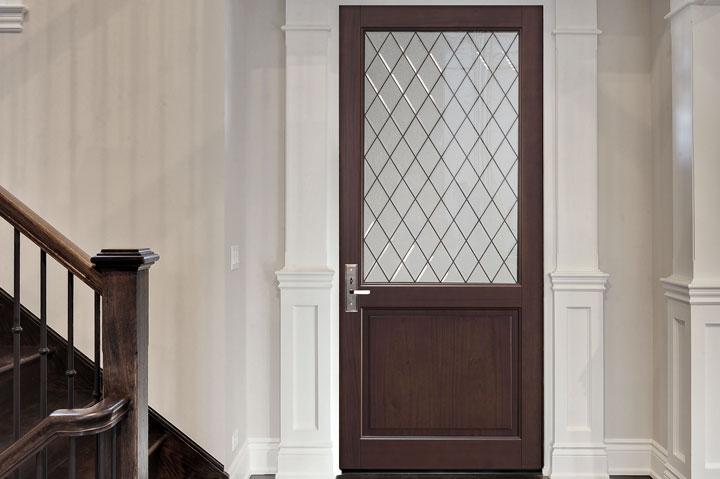 Classic Entry Door.  diamond glass single classic door DB-203