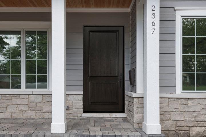 Classic Entry Door.  classic wood entry door, single DB-302PW