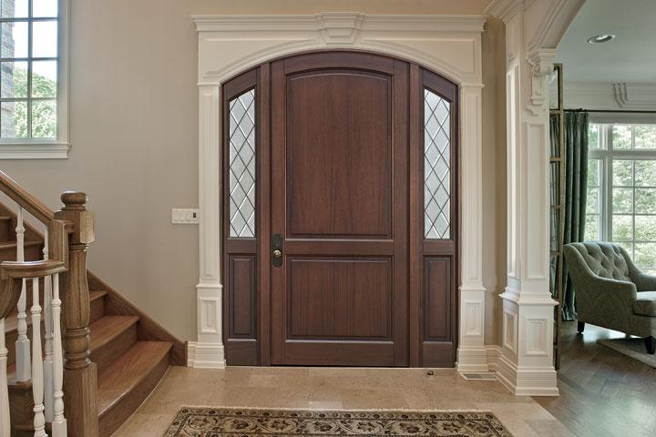 Classic Entry Door.  classic wood entry door, single DB-554PWDG 2SL