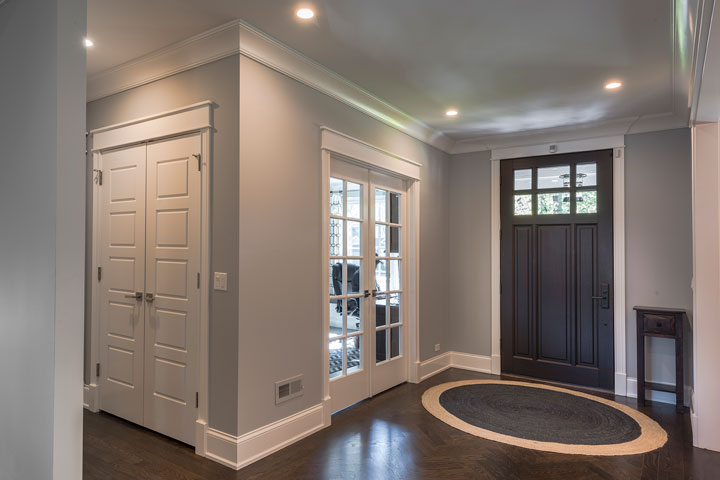 Classic Entry Door.  single solid wood front entry door, furniture quality finish DB-311PW