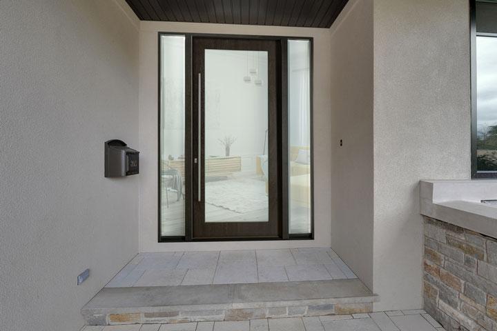 Modern Entry Door.  Modern Front Door DB-EMD-001W 2SL