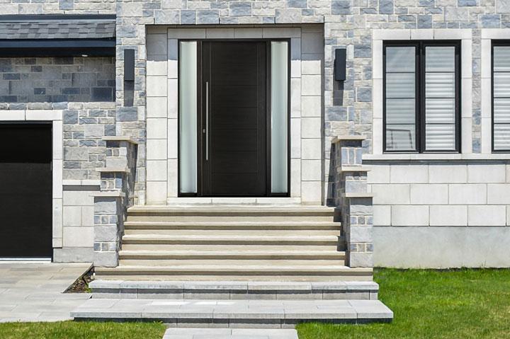 Modern Entry Door.  Modern Front Door DB-EMD-711W 2SL