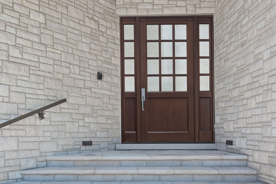 Classic Entry Door.  classic collection door with 2 sidelites DB-012PW 2SL